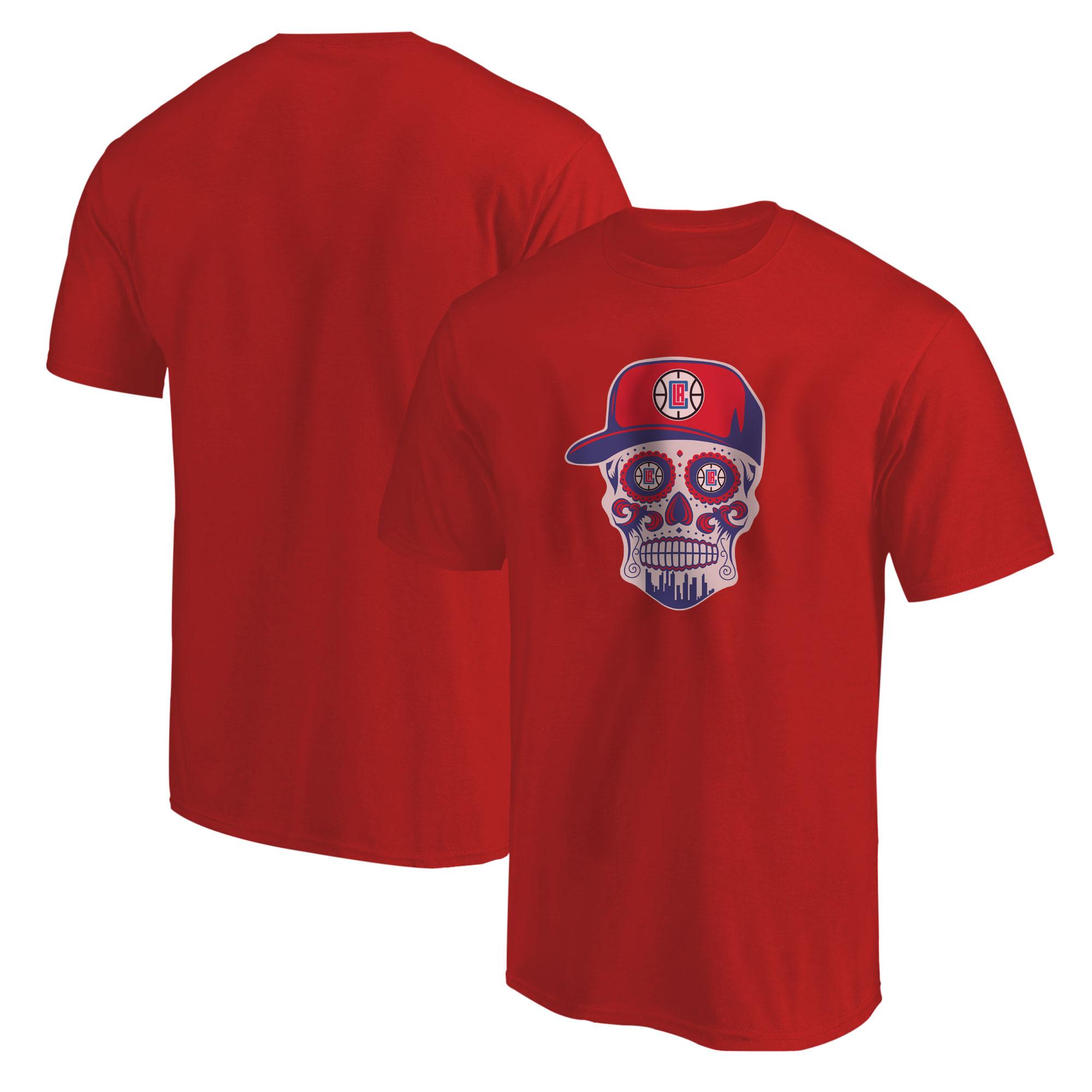 Clippers Skull Tshirt (TSH-RED-NP-450-CLIPPERS-Skull)
