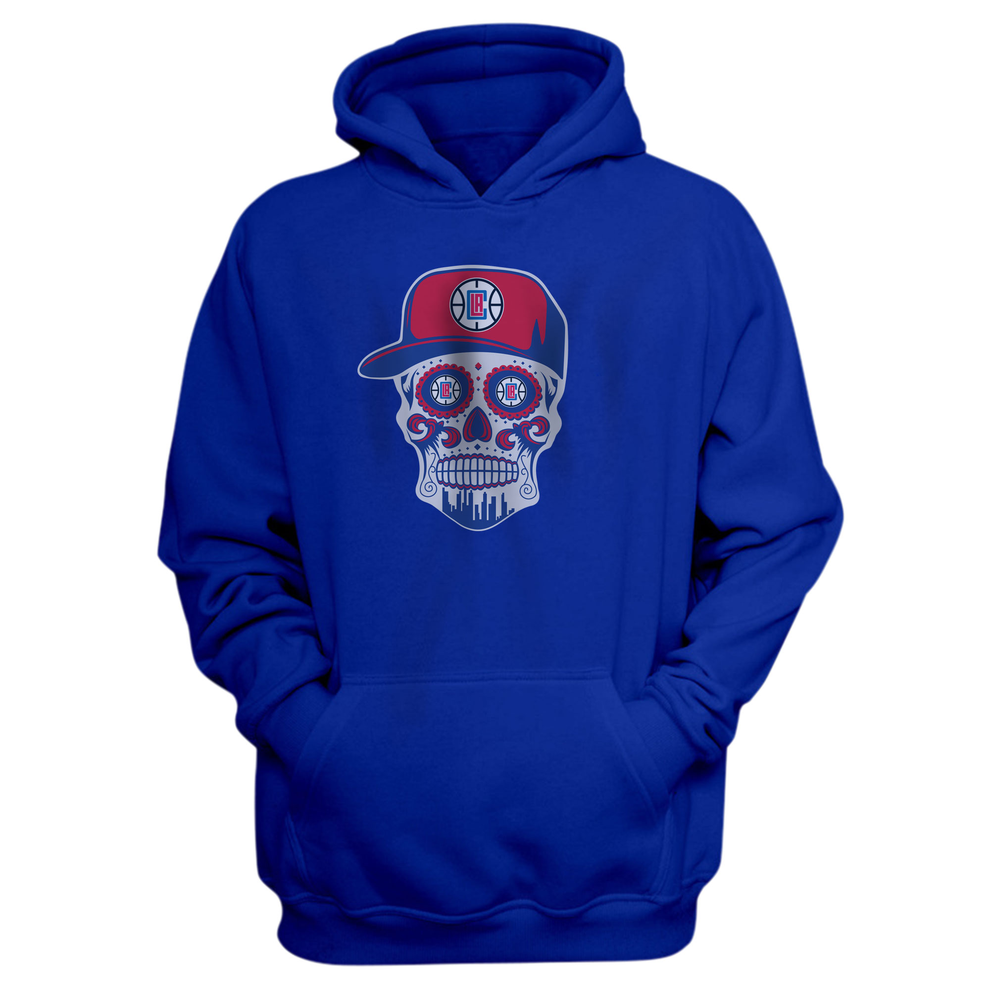Clippers Skull Hoodie (HD-BLU-NP-450-CLIPPERS-SKULL)