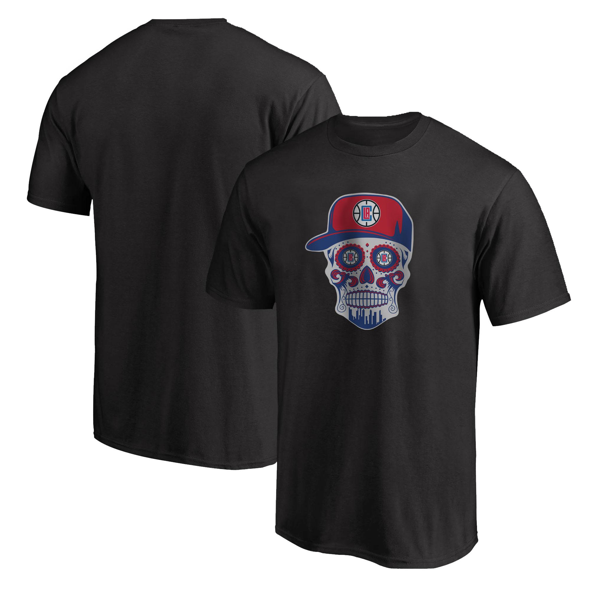 Clippers Skull Tshirt (TSH-BLC-NP-450-CLIPPERS-Skull)