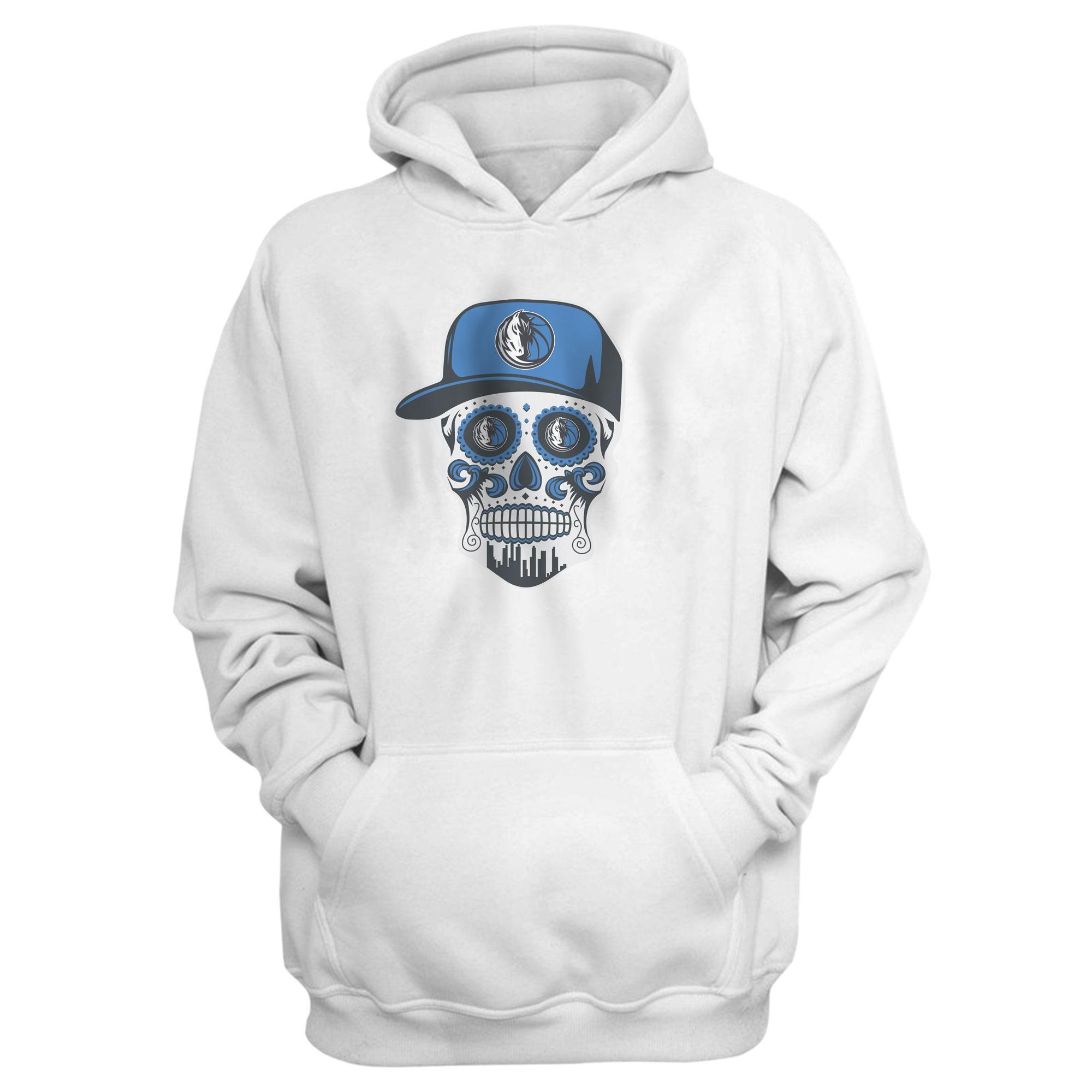 Dallas Skull Hoodie (HD-WHT-NP-451-NBA-DLS-SKULL)