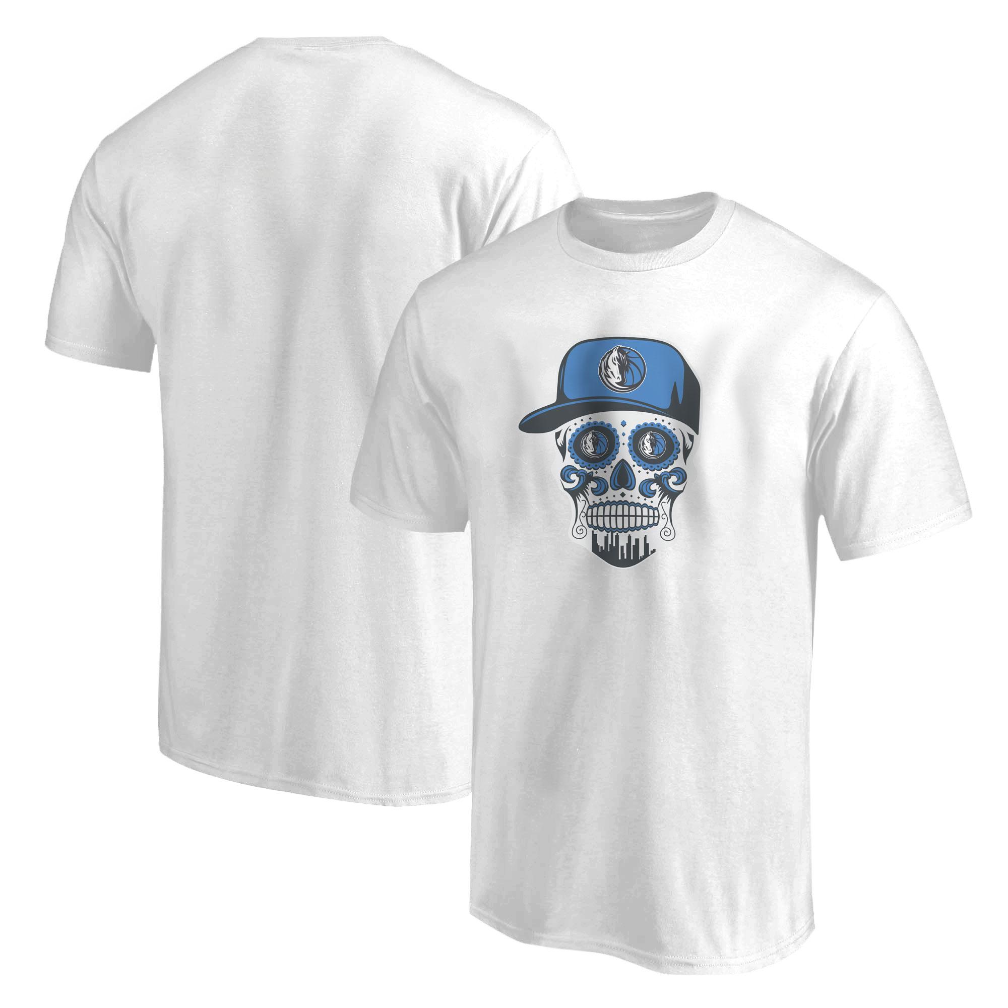 Dallas Skull Tshirt (TSH-WHT-NP-451-NBA-DLS-SKULL)