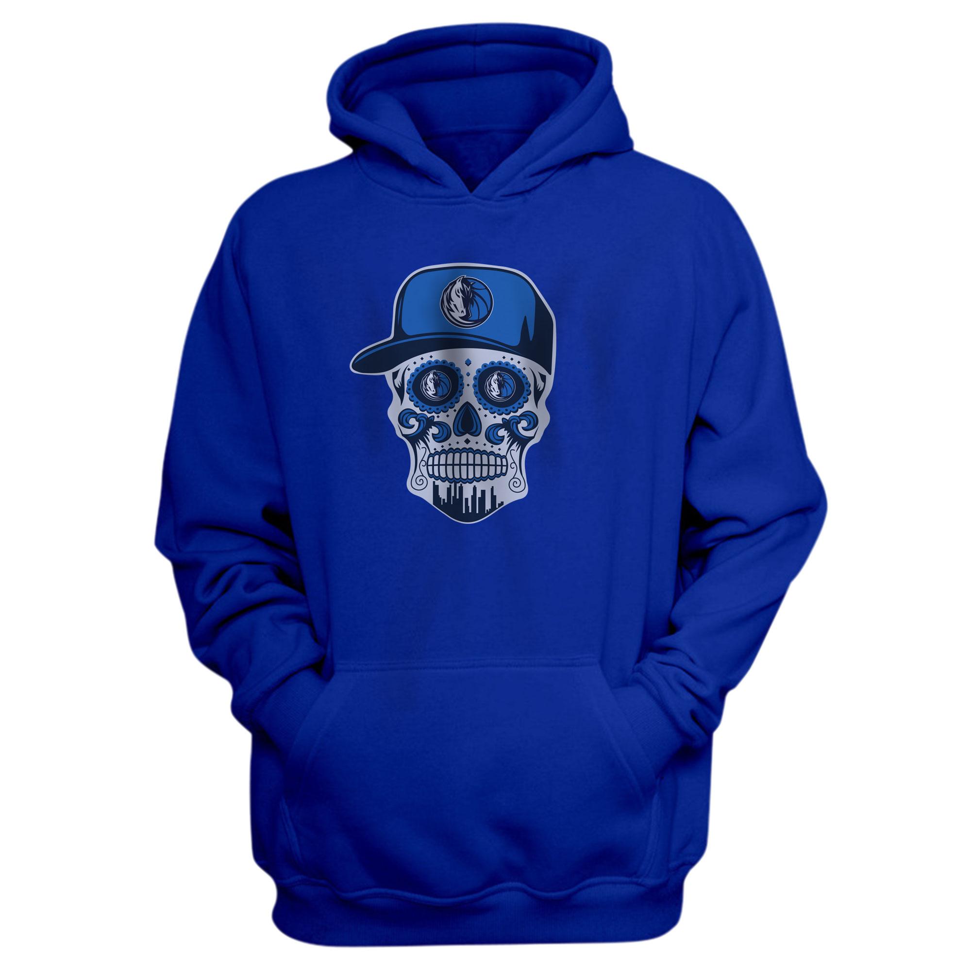 Dallas Skull Hoodie (HD-BLU-NP-451-NBA-DLS-SKULL)