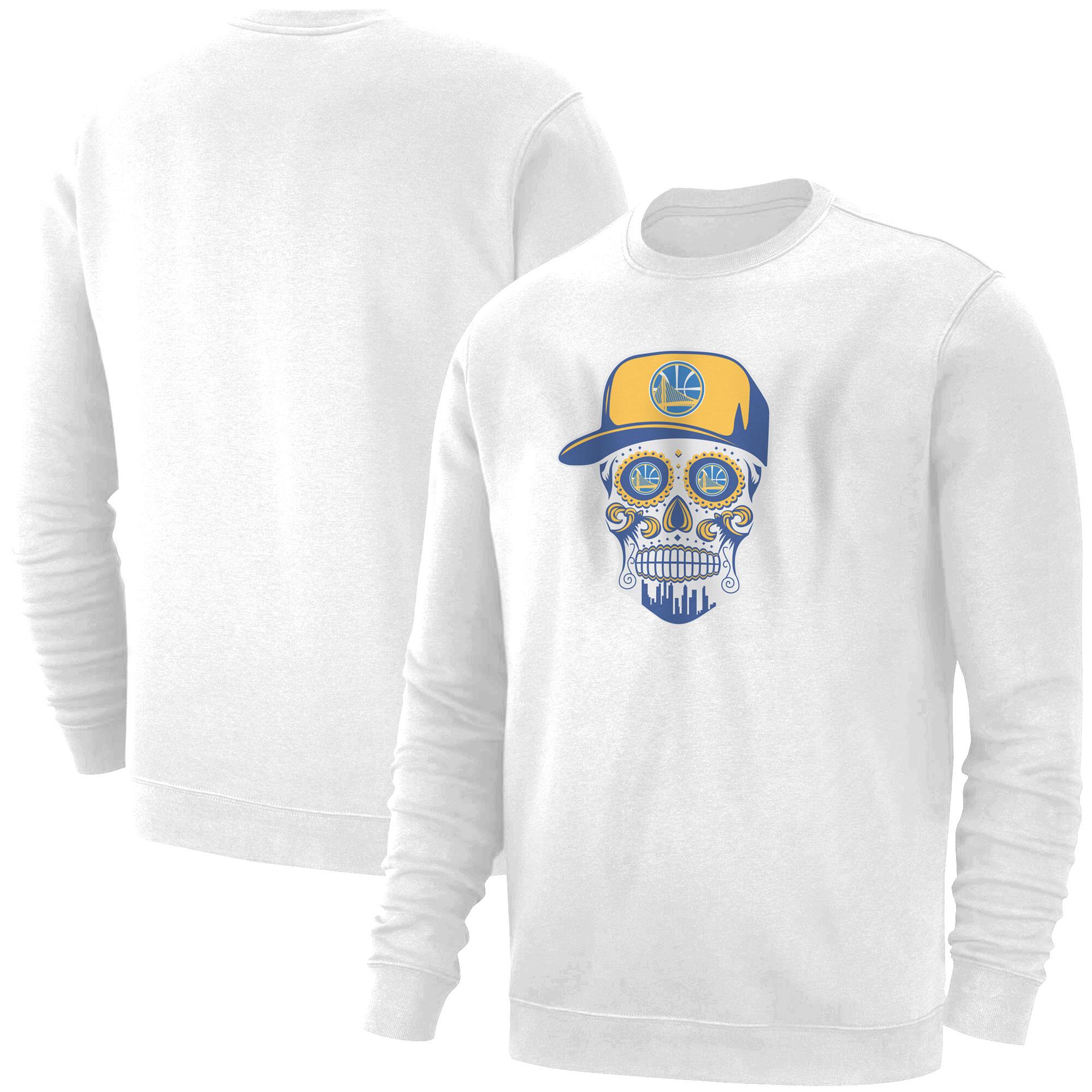 Warriors Skull Basic (BSC-WHT-NP-452-NBA-GSW-SKULL)