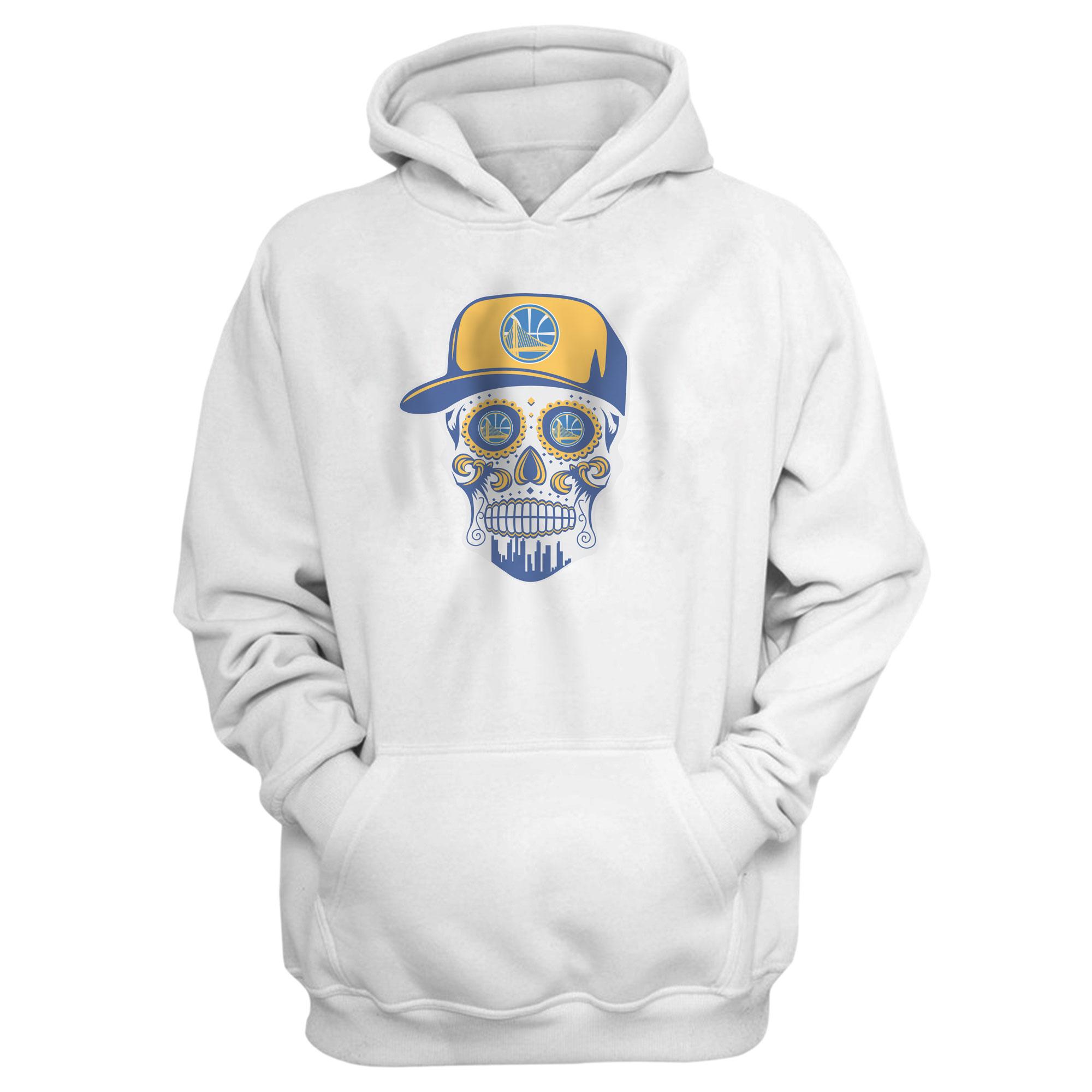 Warriors Skull Hoodie (HD-WHT-NP-452-NBA-GSW-SKULL)