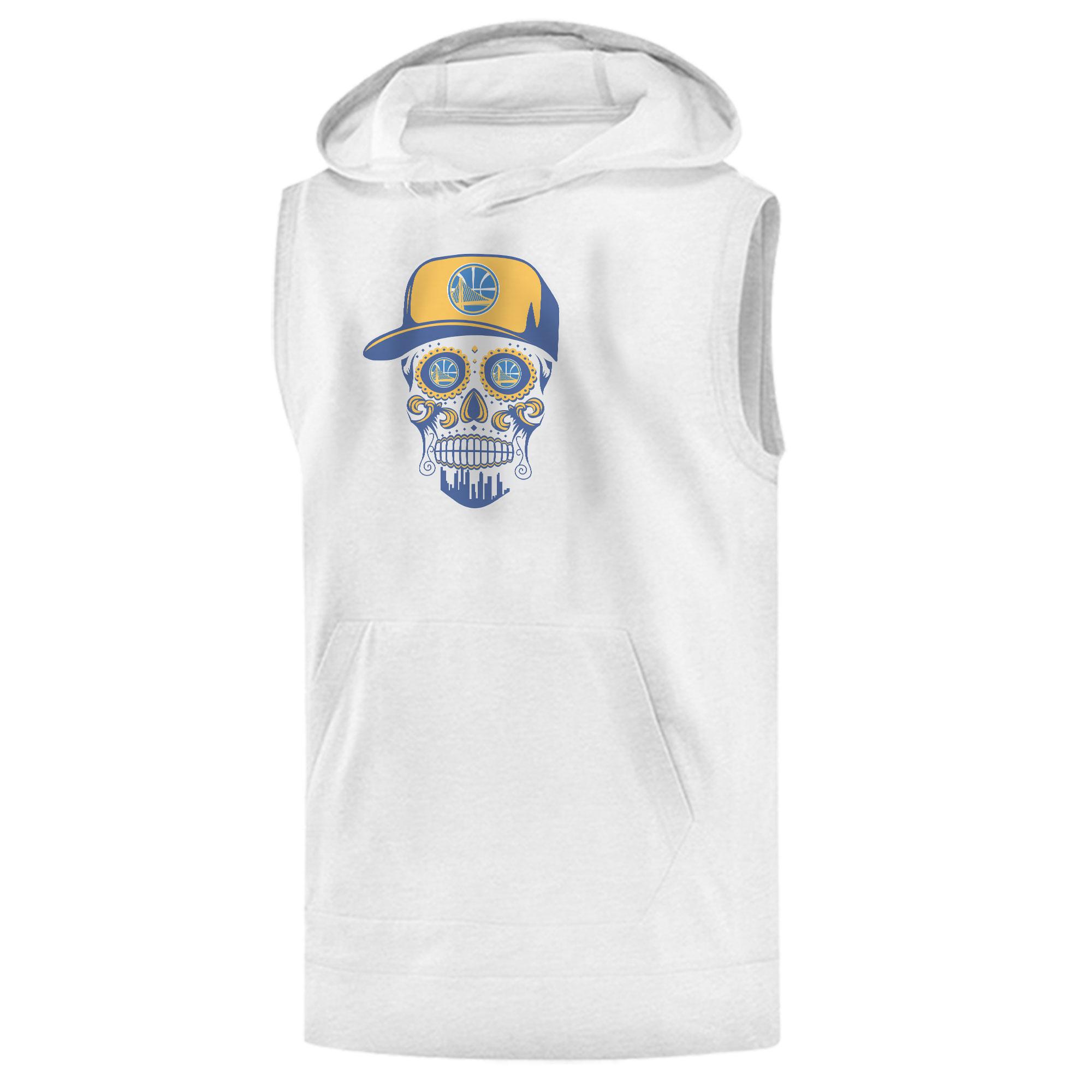 Warriors Skull Sleeveless (KLS-WHT-NP-452-NBA-GSW-SKULL)