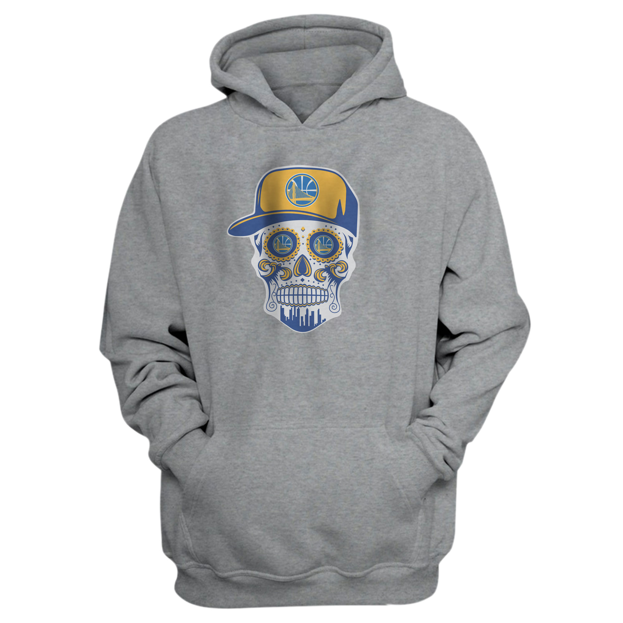 Warriors Skull Hoodie (HD-BLU-NP-452-NBA-GSW-SKULL)