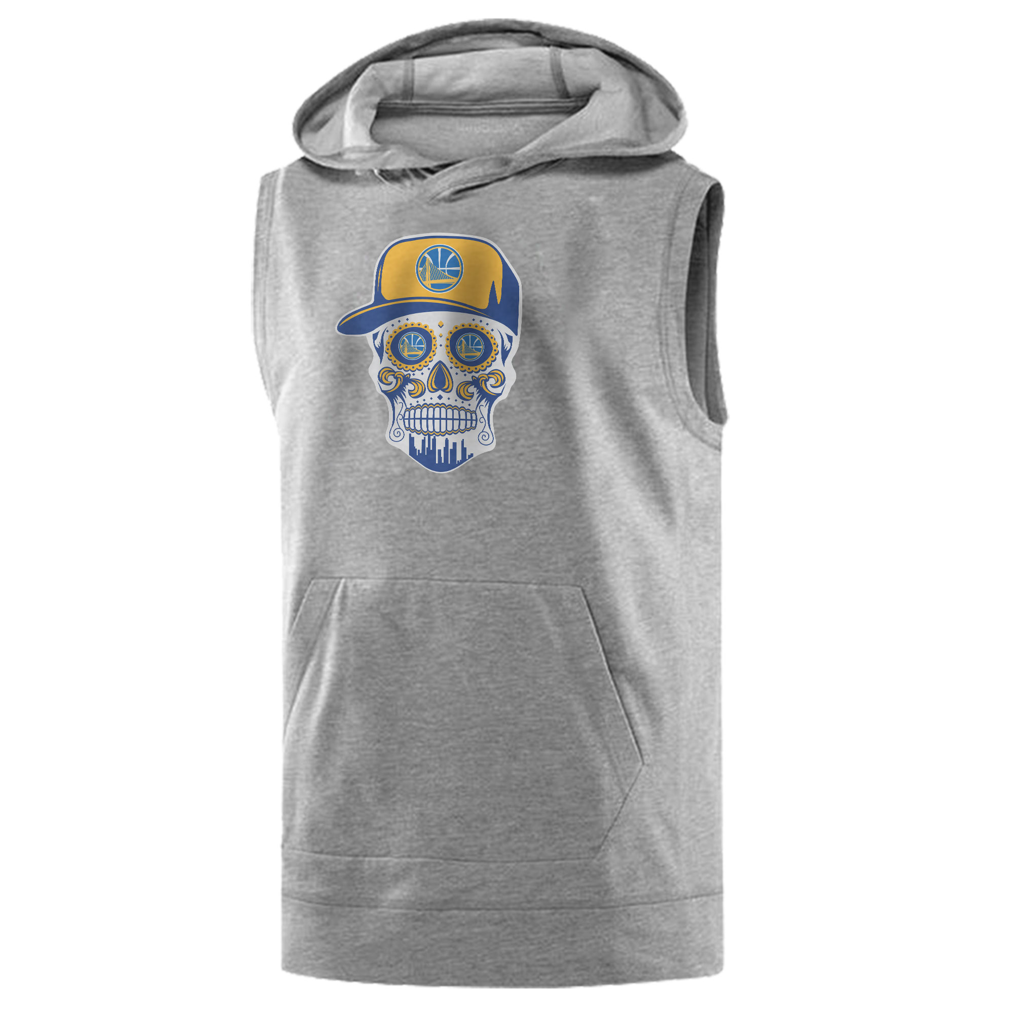 Warriors Skull Sleeveless (KLS-BLC-NP-452-NBA-GSW-SKULL)