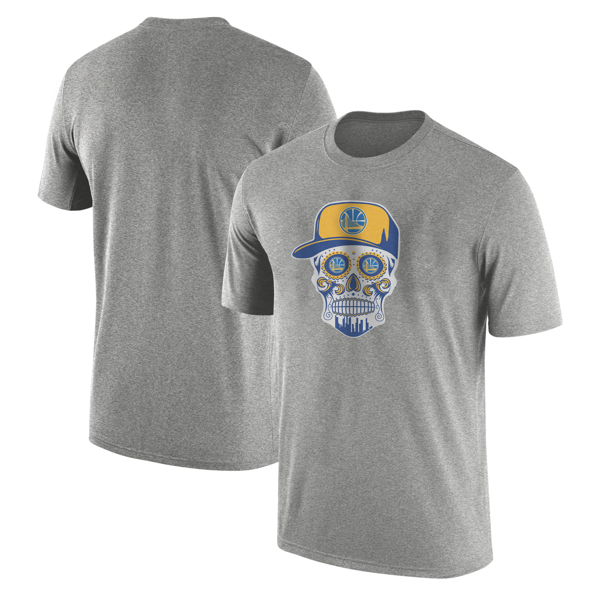 Warriors Skull Tshirt (TSH-GRY-NP-452-NBA-GSW-SKULL)
