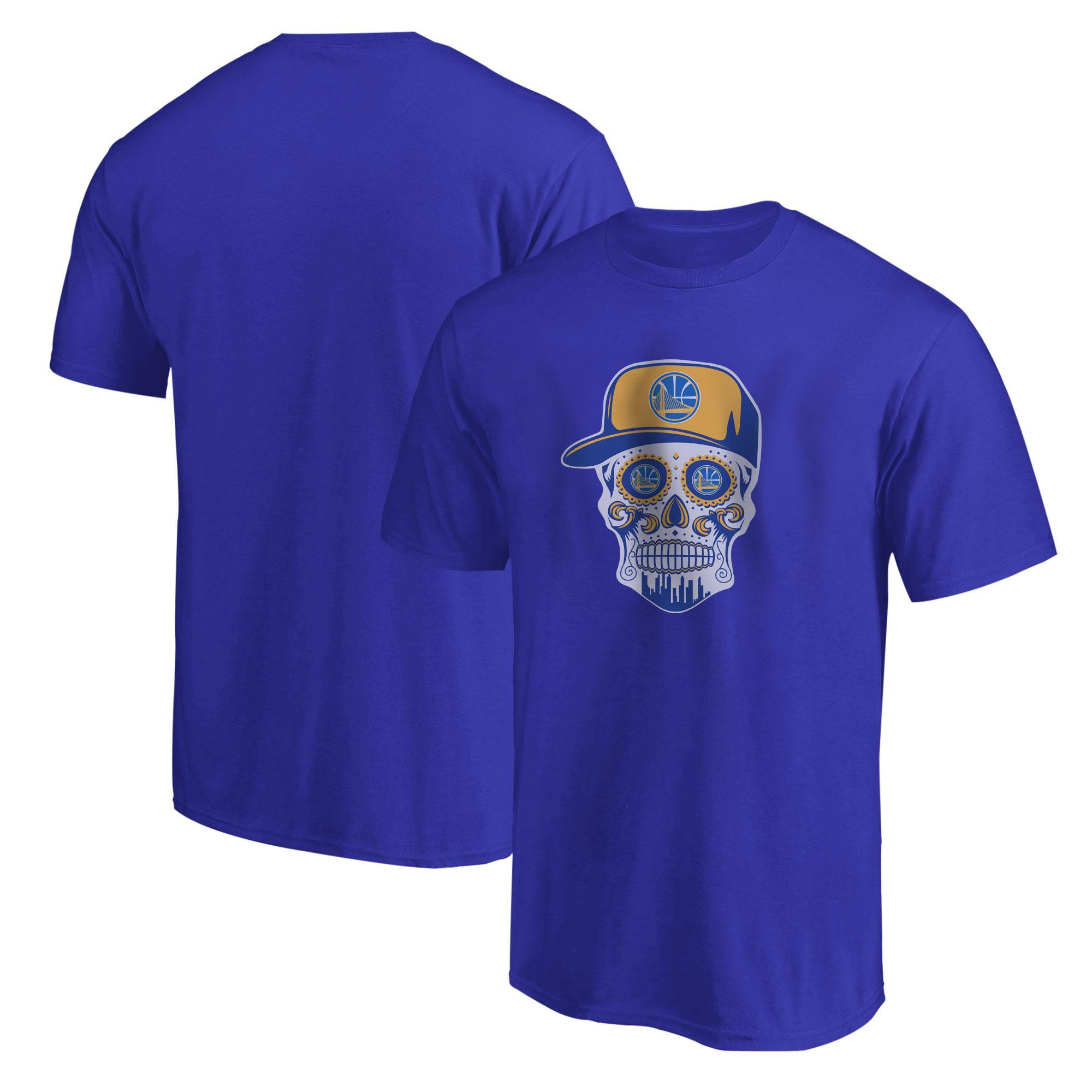 Warriors Skull Tshirt (TSH-BLU-NP-452-NBA-GSW-SKULL)