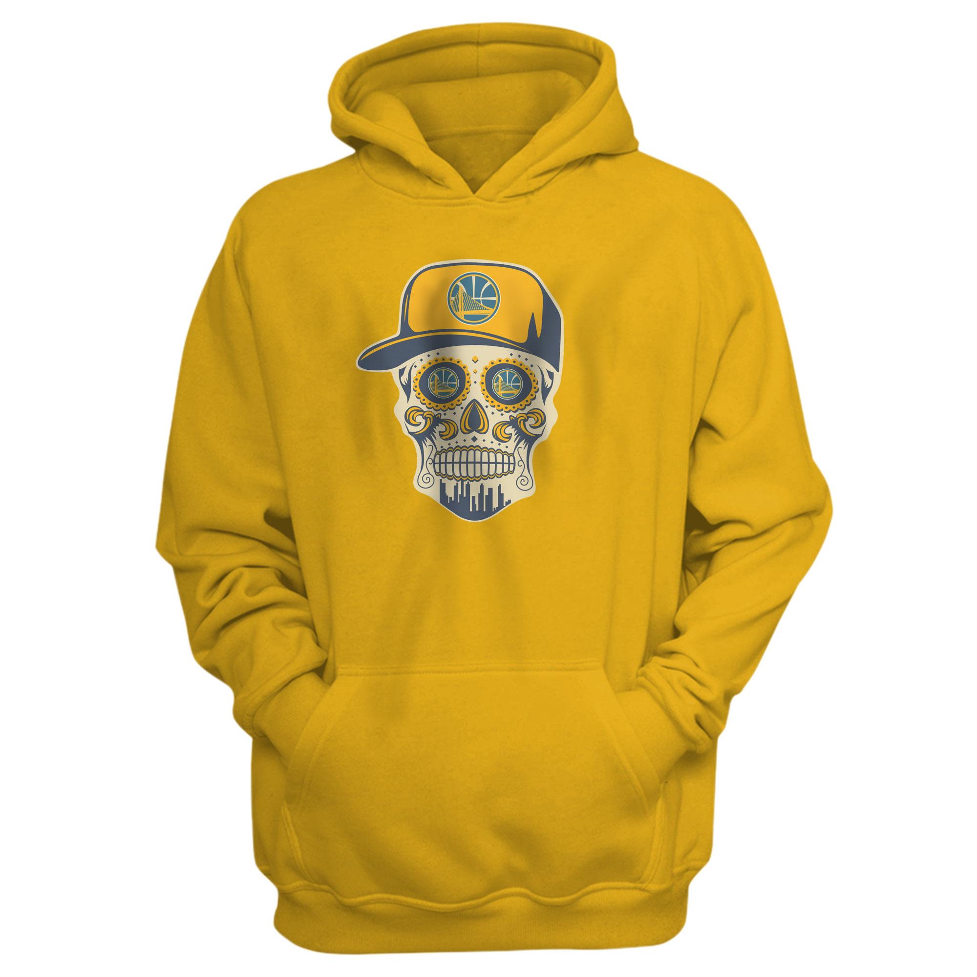 Warriors Skull Hoodie (HD-YLW-NP-452-NBA-GSW-SKULL)