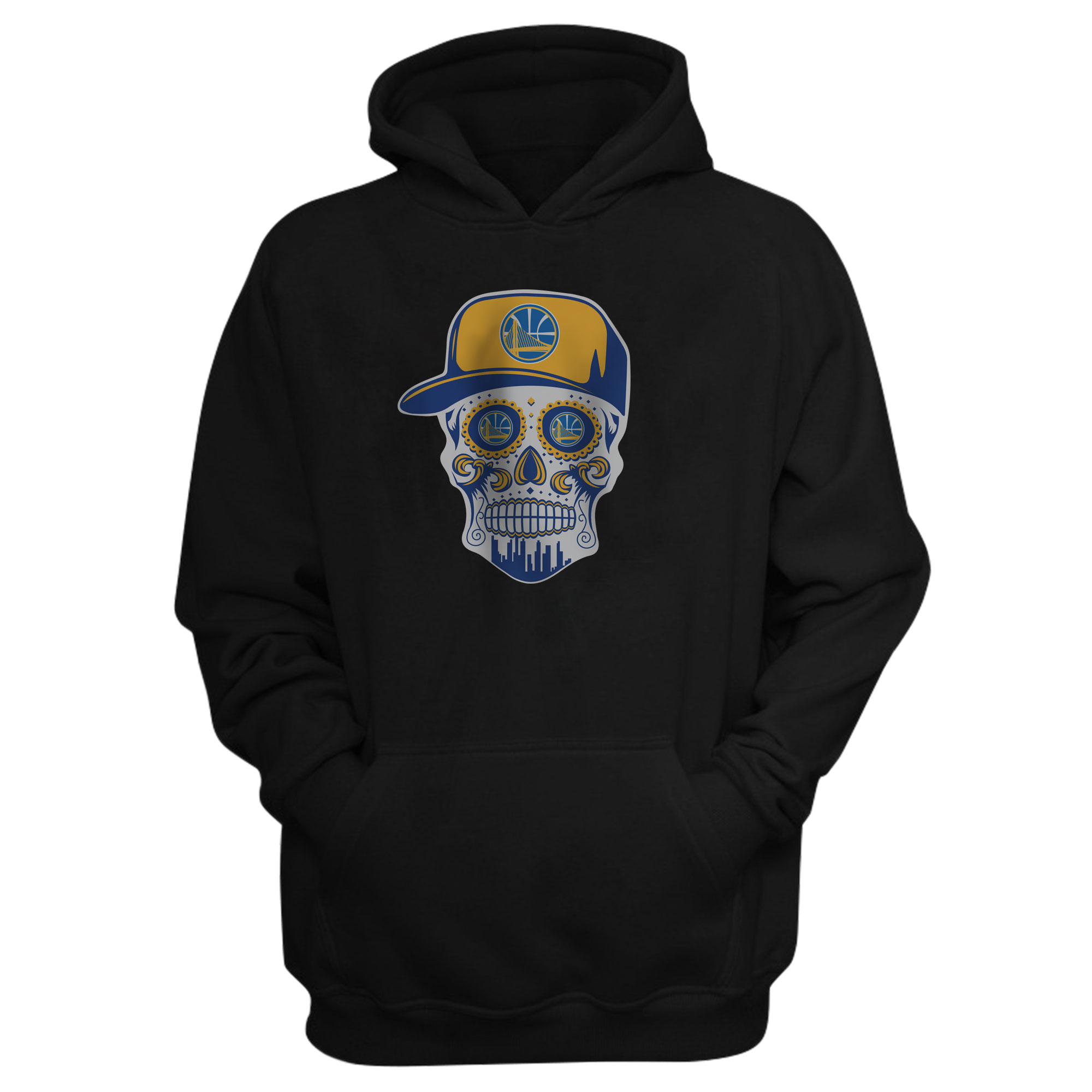 Warriors Skull Hoodie (HD-BLC-NP-452-NBA-GSW-SKULL)