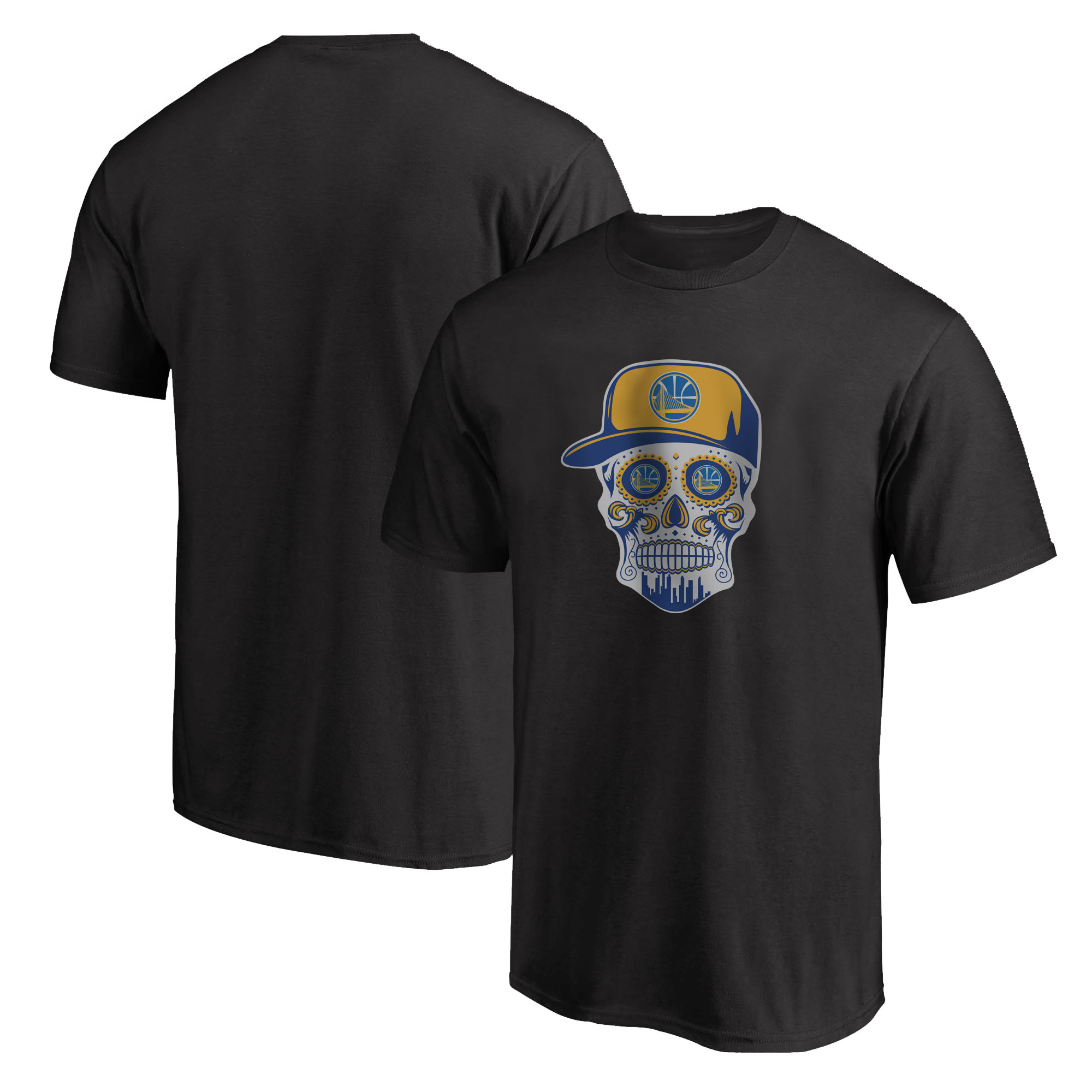 Warriors Skull Tshirt (TSH-BLC-NP-452-NBA-GSW-SKULL)