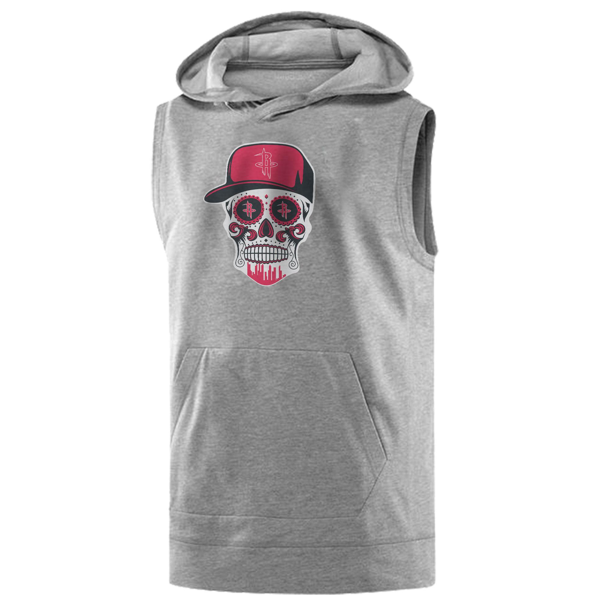 Rockets Skull Sleeveless (KLS-GRY-NP-453-NBA-HOU-SKULL)