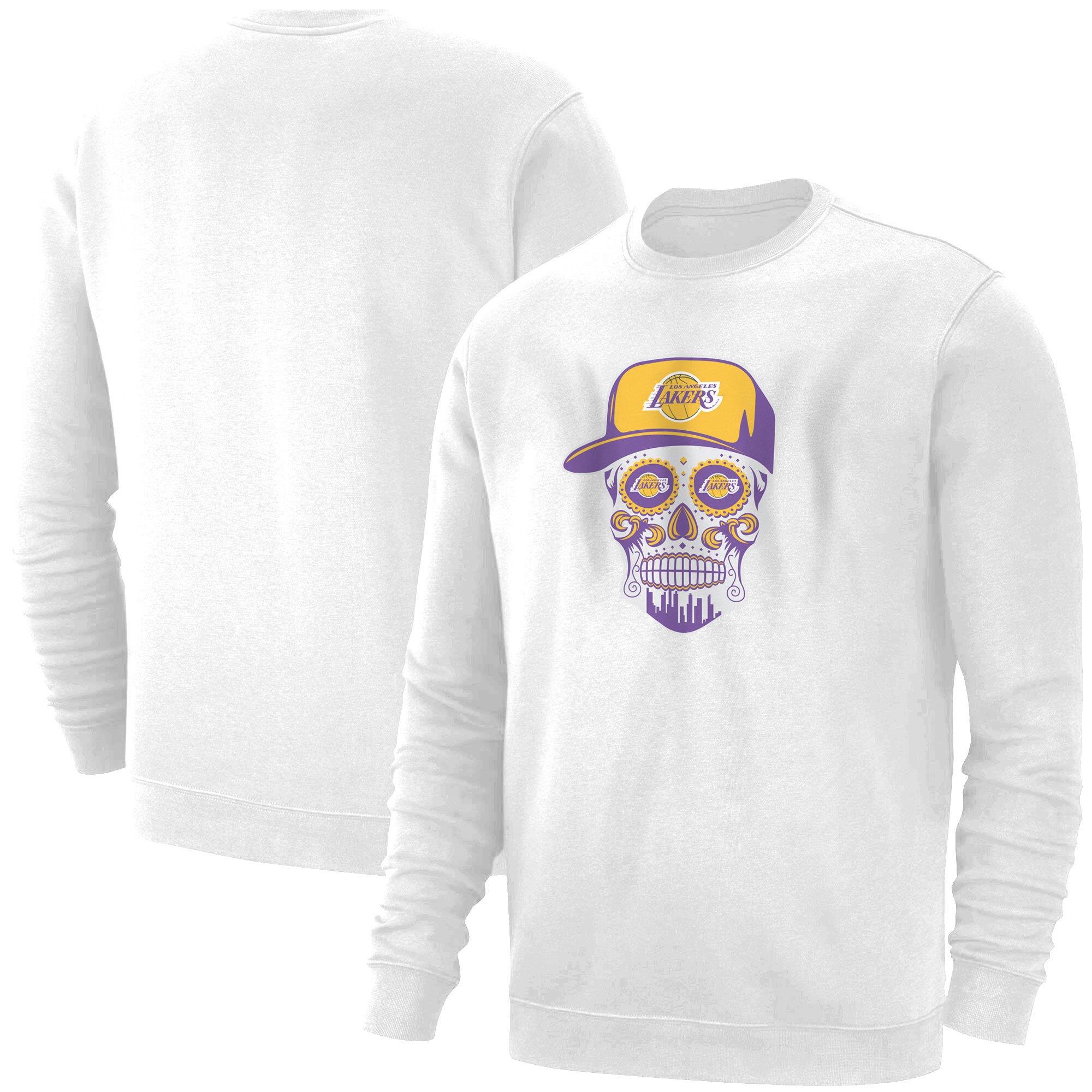 Lakers Skull Basic (BSC-WHT-NP-454-NBA-LKRS-SKULL)
