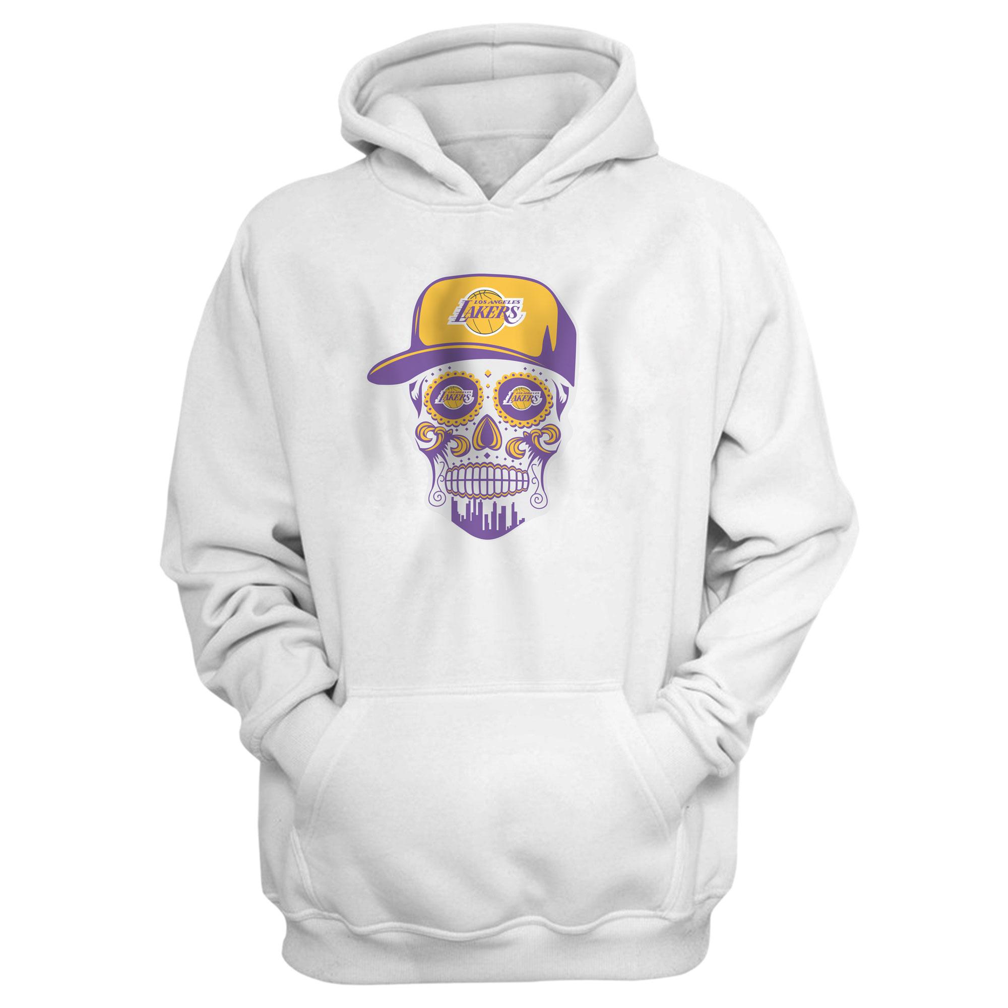 Lakers Skull Hoodie (HD-WHT-NP-454-NBA-LKRS-SKULL)