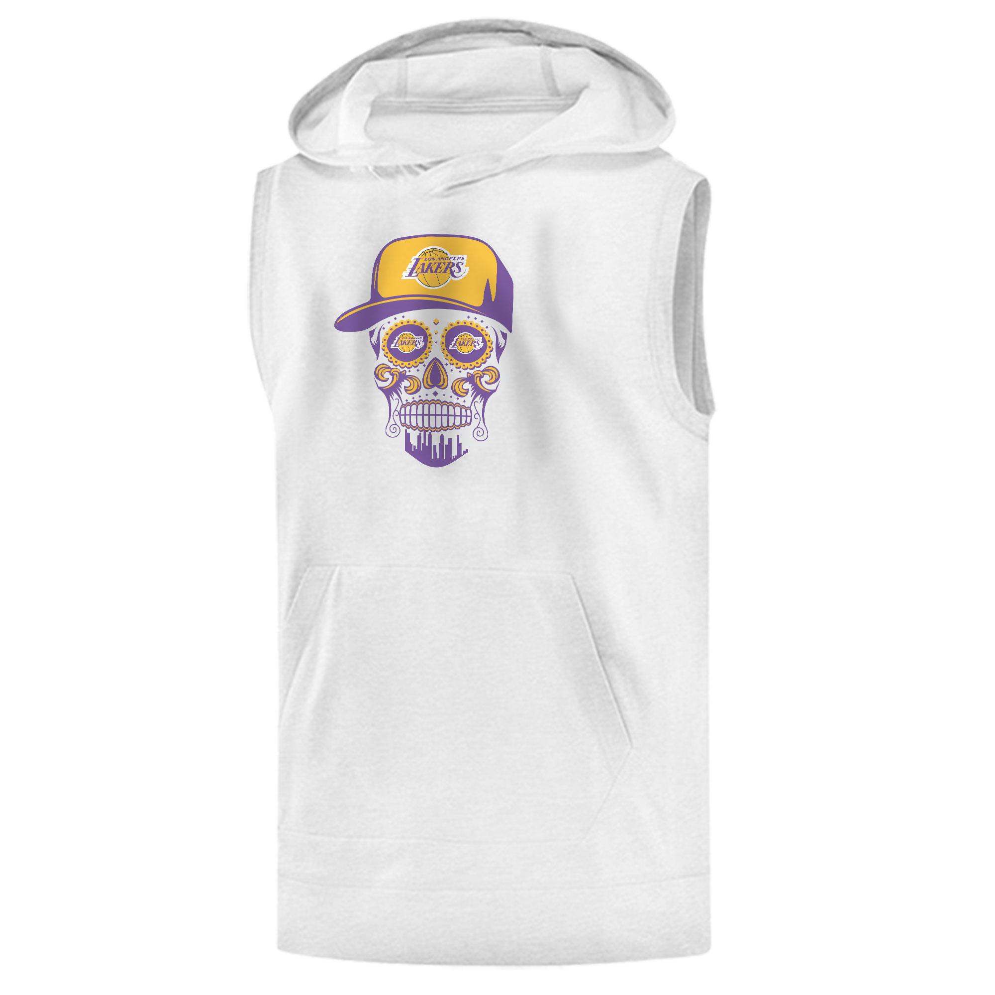 Lakers Skull Sleeveless (KLS-WHT-NP-454-NBA-LKRS-SKULL)