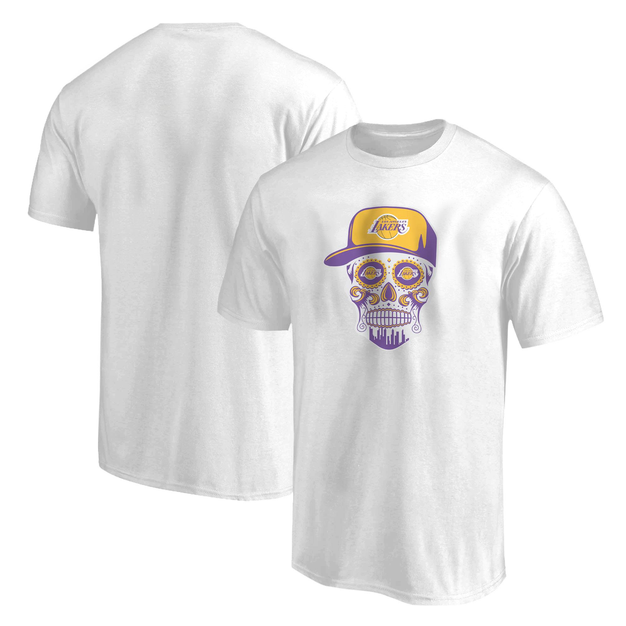 Lakers Skull Tshirt (TSH-WHT-NP-454-NBA-LKRS-SKULL)