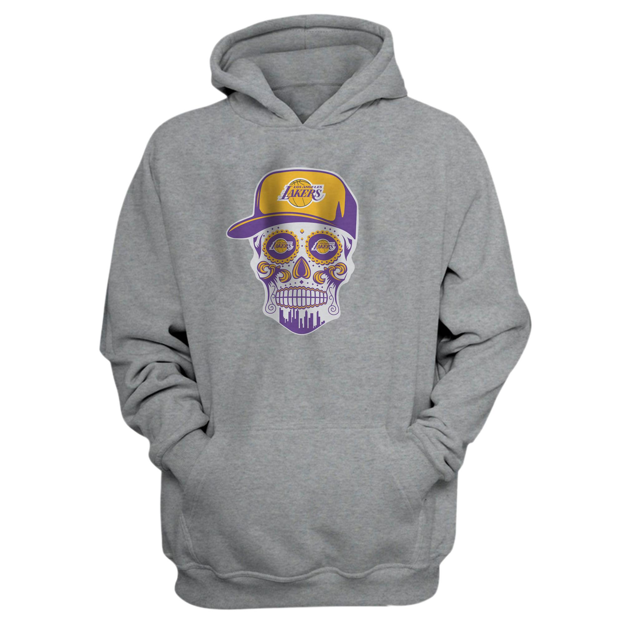 Lakers Skull Hoodie (HD-GRY-NP-454-NBA-LKRS-SKULL)