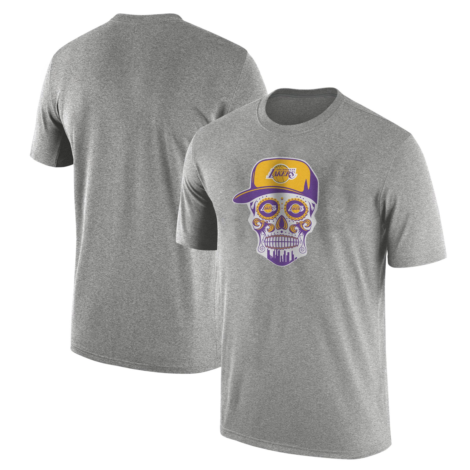 Lakers Skull Tshirt (TSH-GRY-NP-454-NBA-LKRS-SKULL)