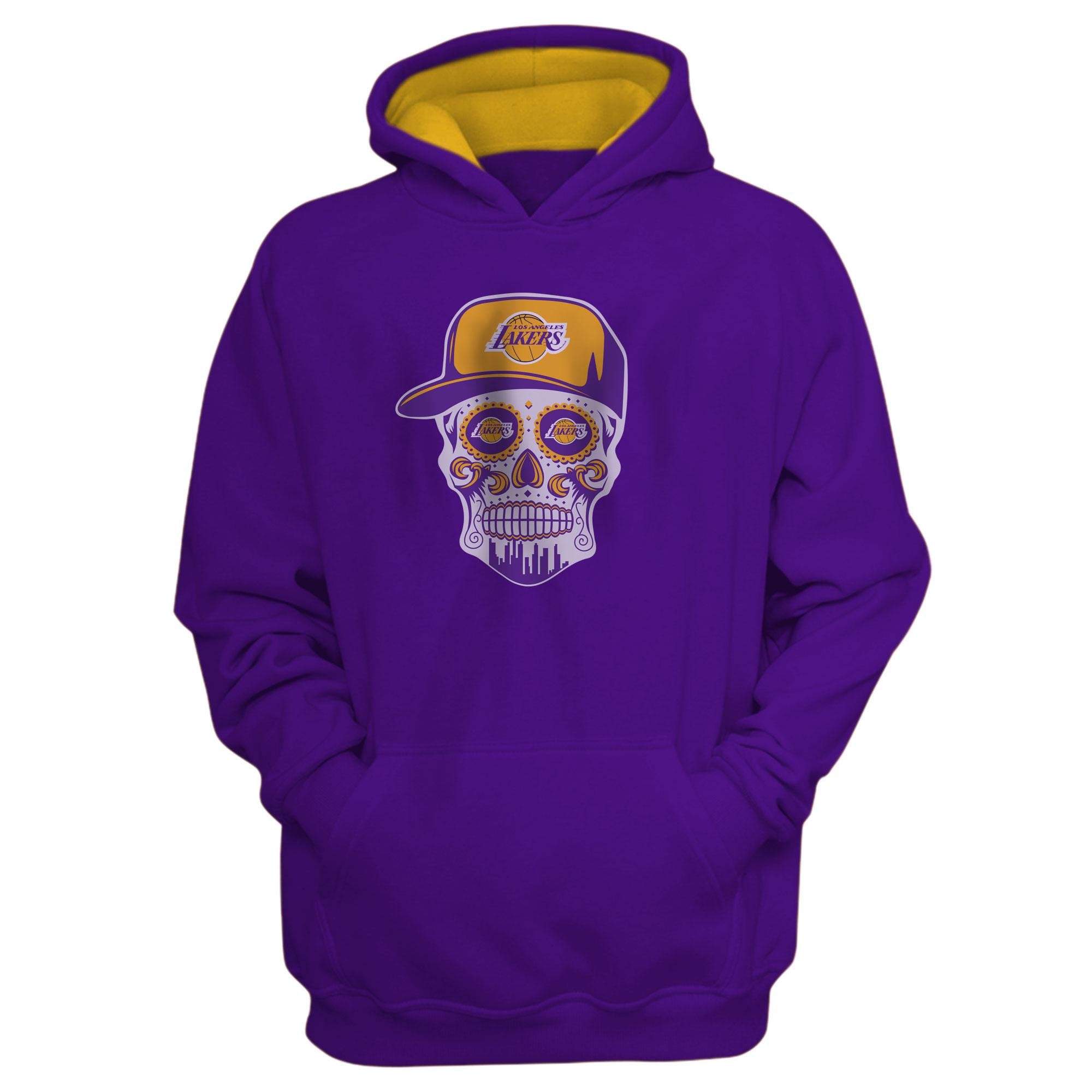 Lakers Skull Hoodie (HD-PRP-NP-454-NBA-LKRS-SKULL)