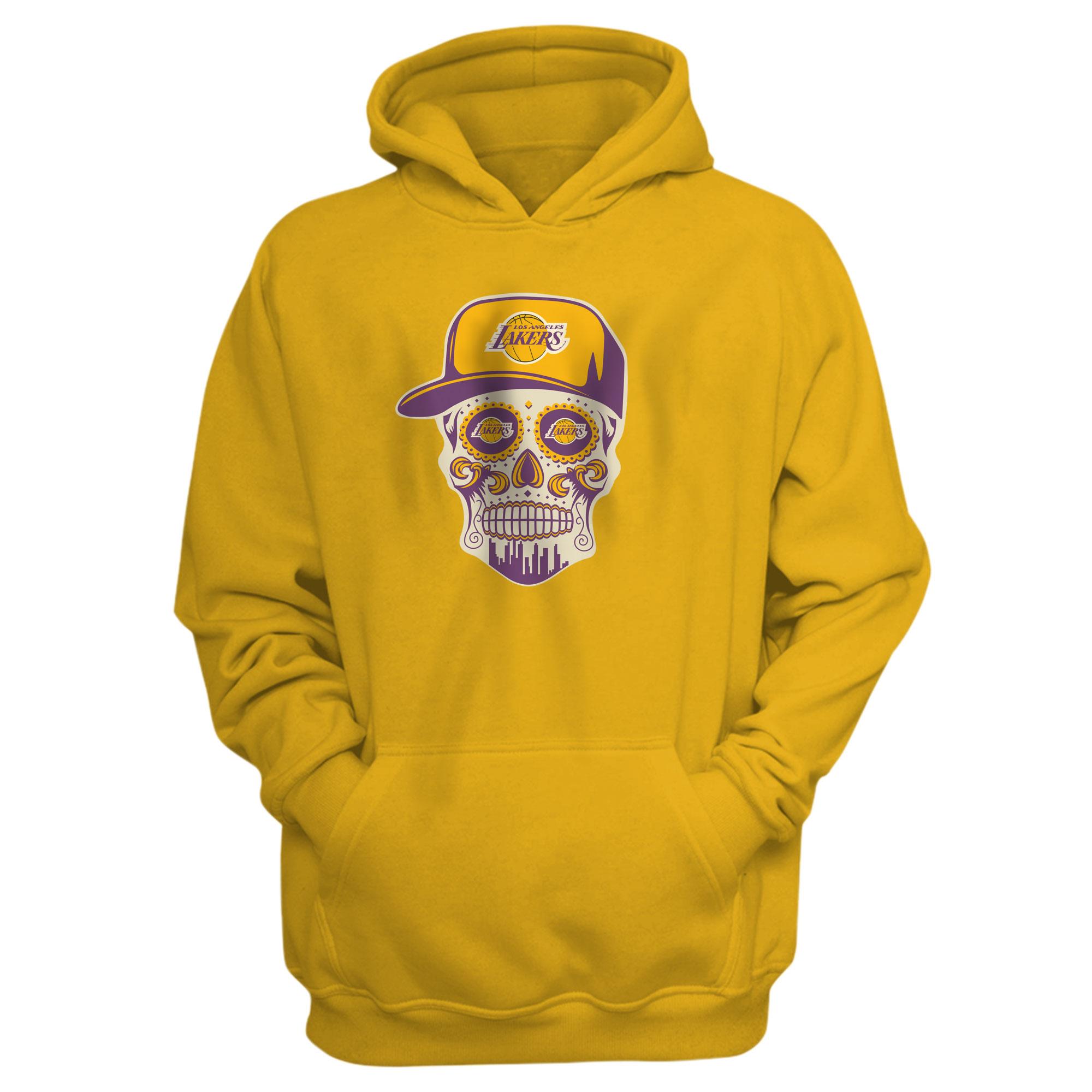 Lakers Skull Hoodie (HD-YLW-NP-454-NBA-LKRS-SKULL)