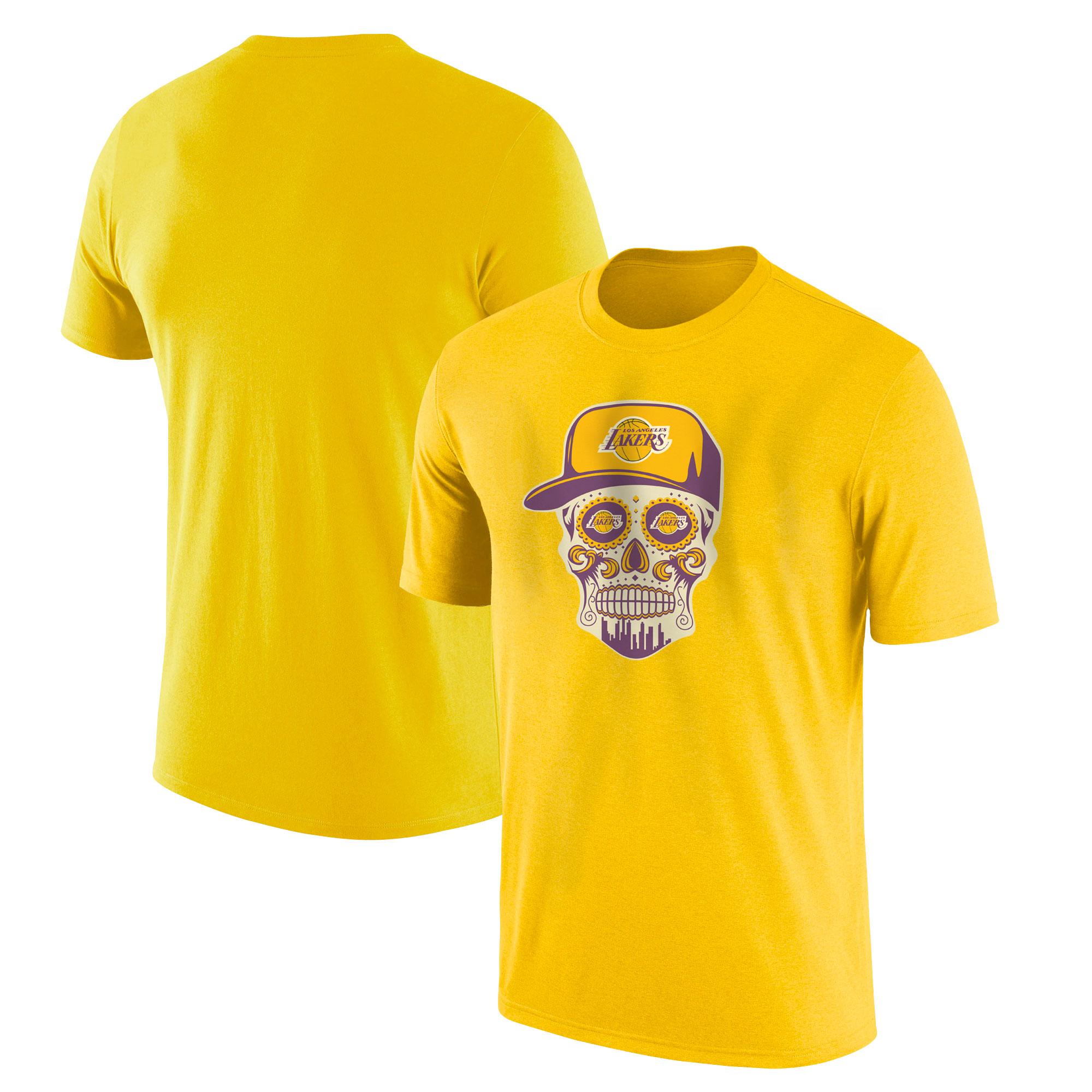 Lakers Skull Tshirt (TSH-YLW-NP-454-NBA-LKRS-SKULL)