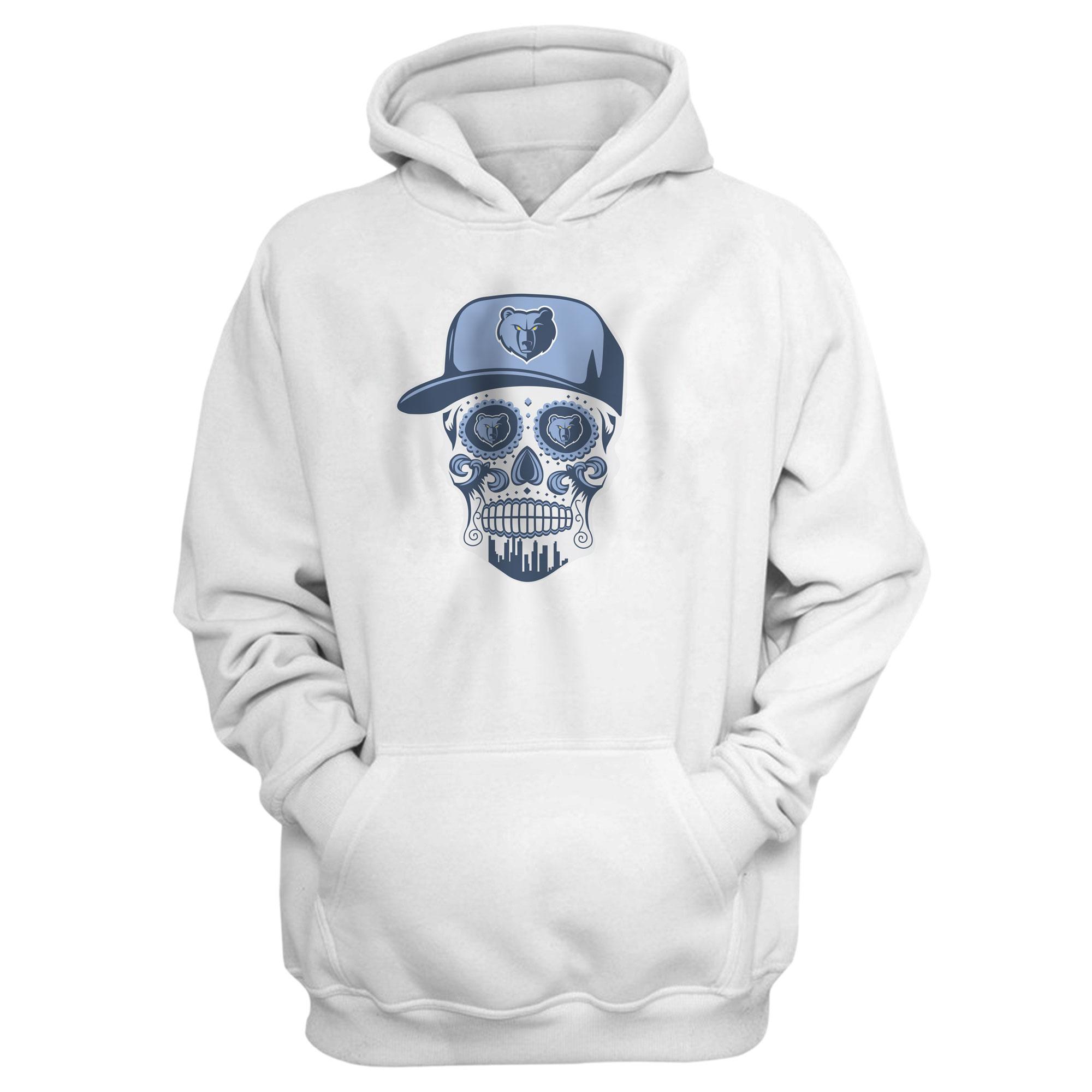 Memphis Skull Hoodie (HD-BLU-455-NBA-MEM-SKULL)