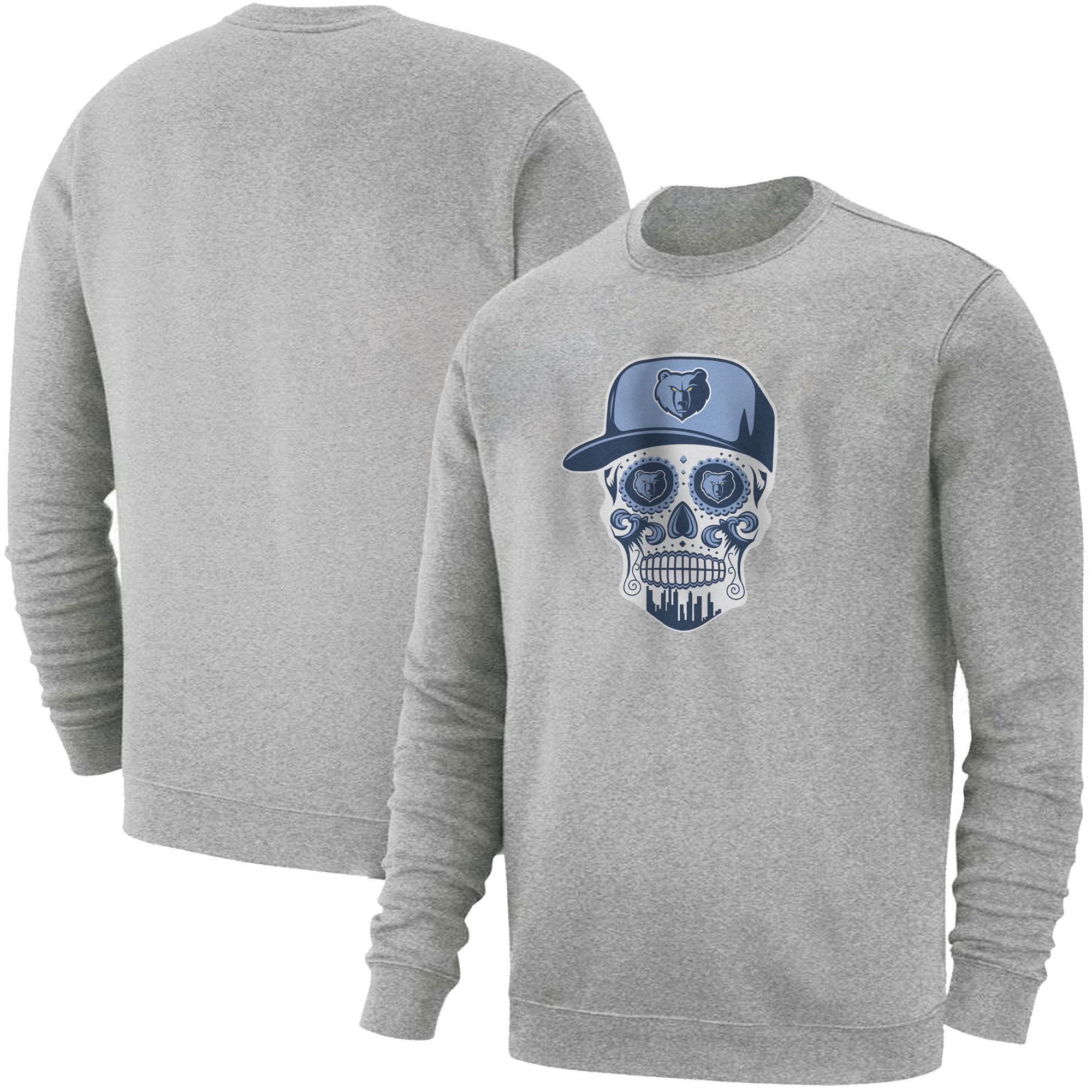 Memphis Skull Basic (BSC-GRY-NP-455-NBA-MEM-SKULL)