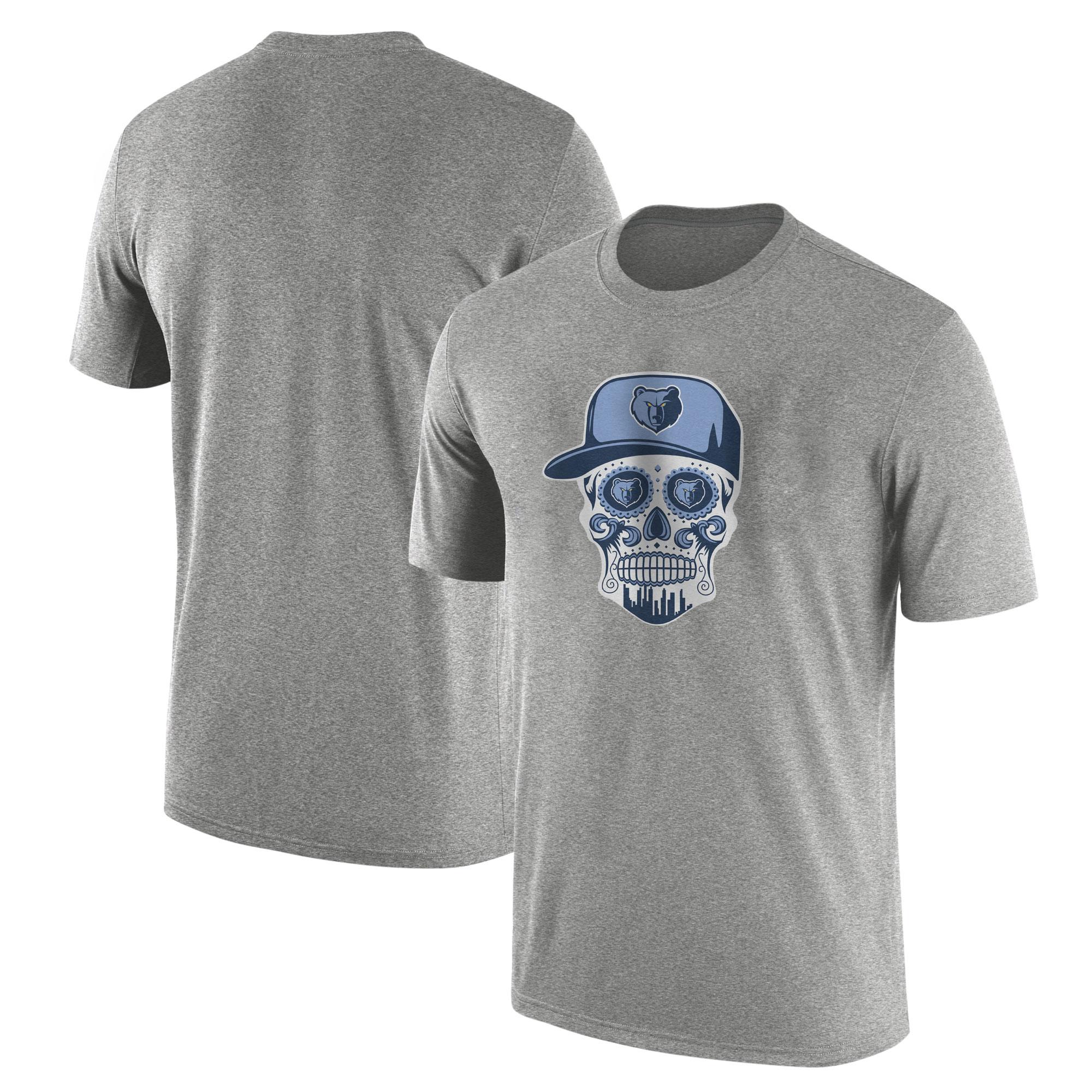 Memphis Skull Tshirt (TSH-GRY-NP-455-NBA-MEM-SKULL)