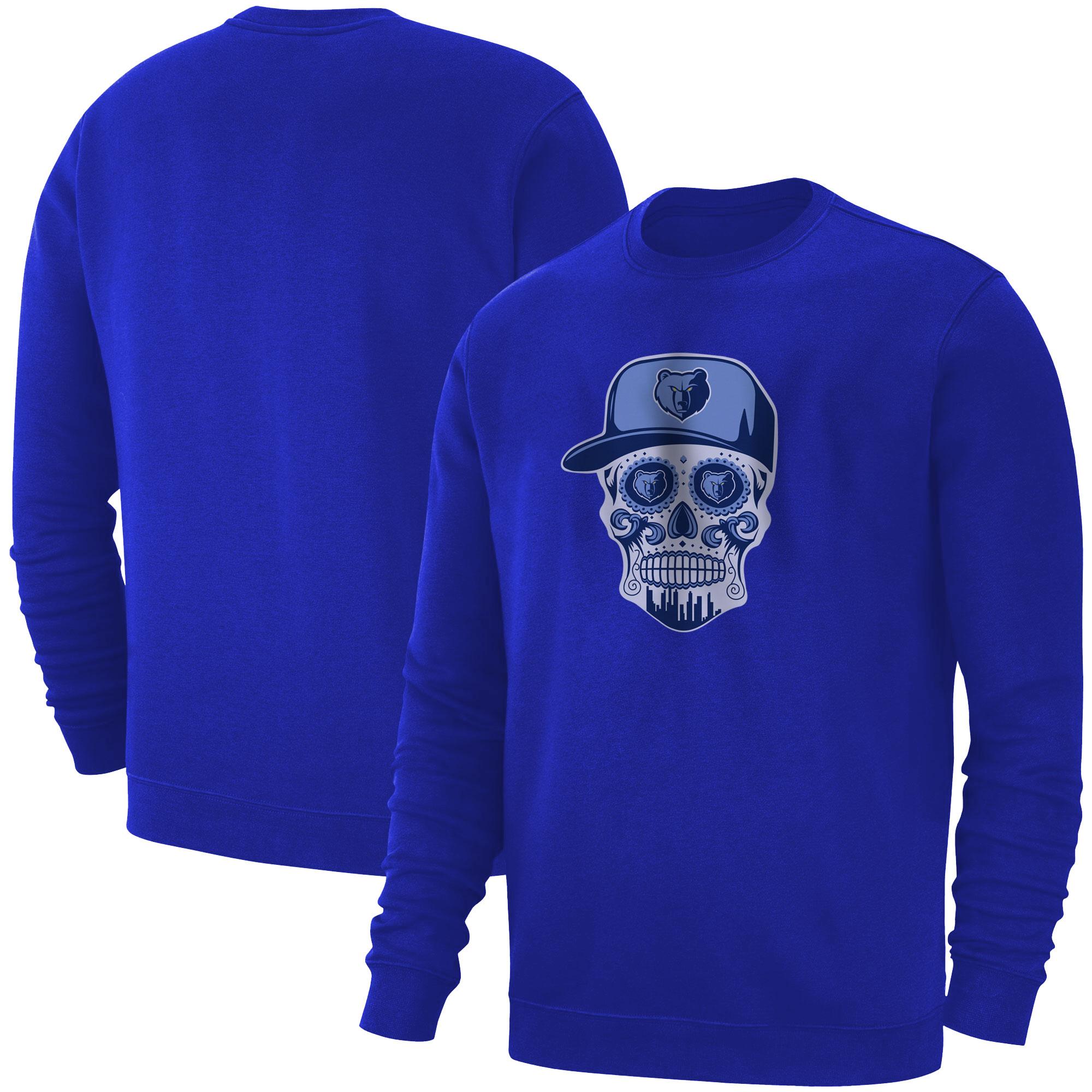 Memphis Skull Basic (BSC-BLU-NP-455-NBA-MEM-SKULL)