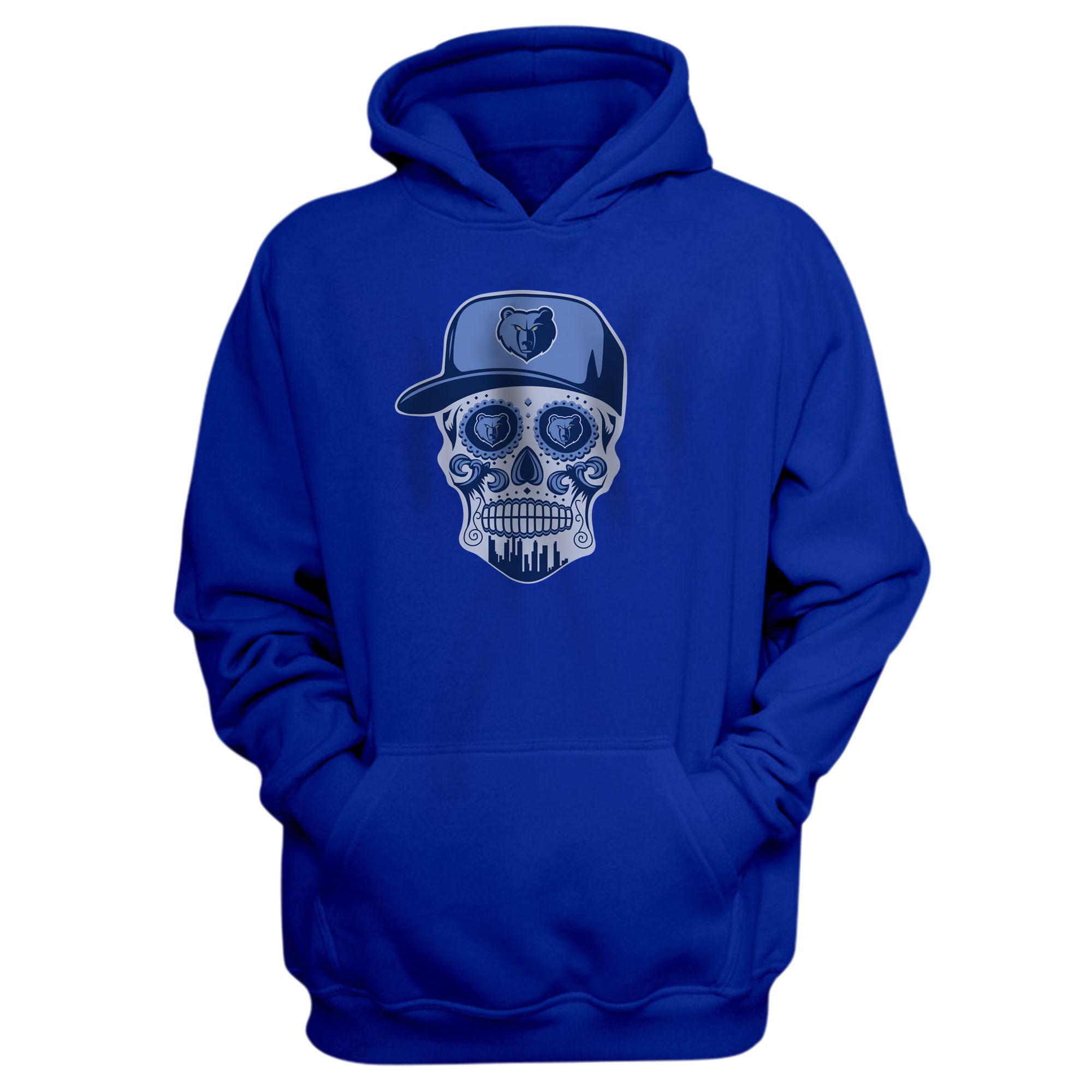 Memphis Skull Hoodie (HD-BLU-NP-455-NBA-MEM-SKULL)