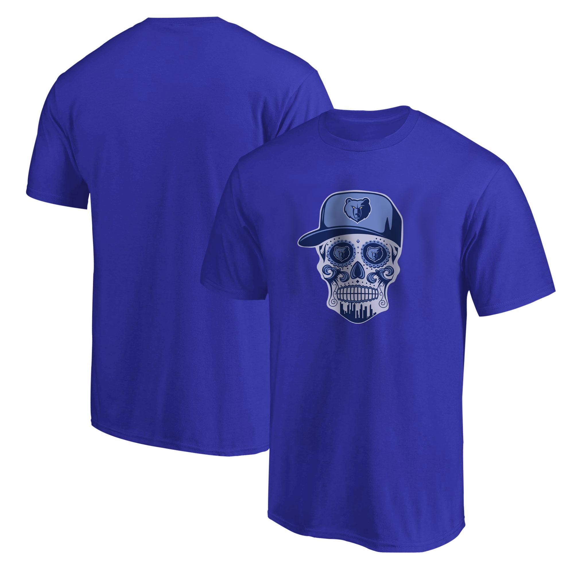 Memphis Skull Tshirt (TSH-BLU-NP-455-NBA-MEM-SKULL)