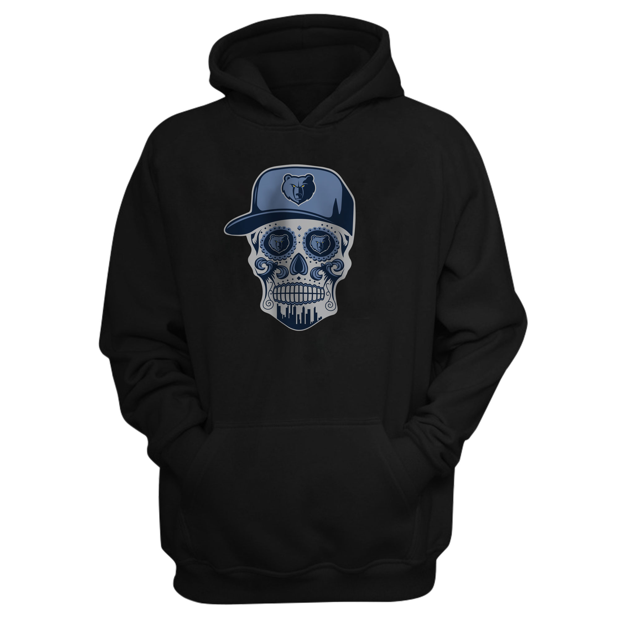 Memphis Skull Hoodie (HD-BLC-NP-455-NBA-MEM-SKULL)