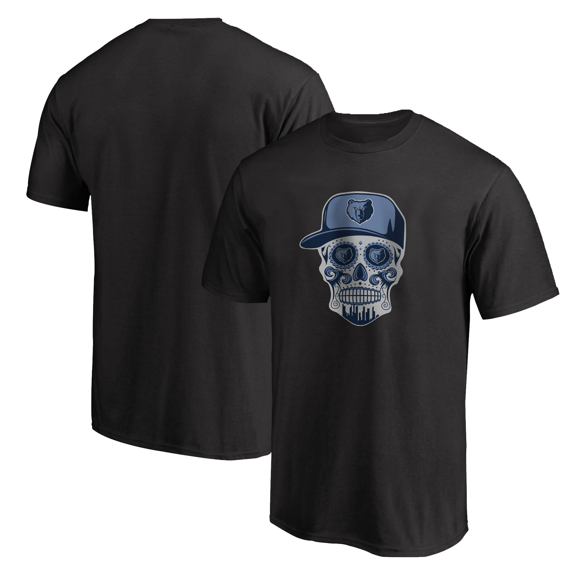 Memphis Skull Tshirt (TSH-BLC-NP-455-NBA-MEM-SKULL)