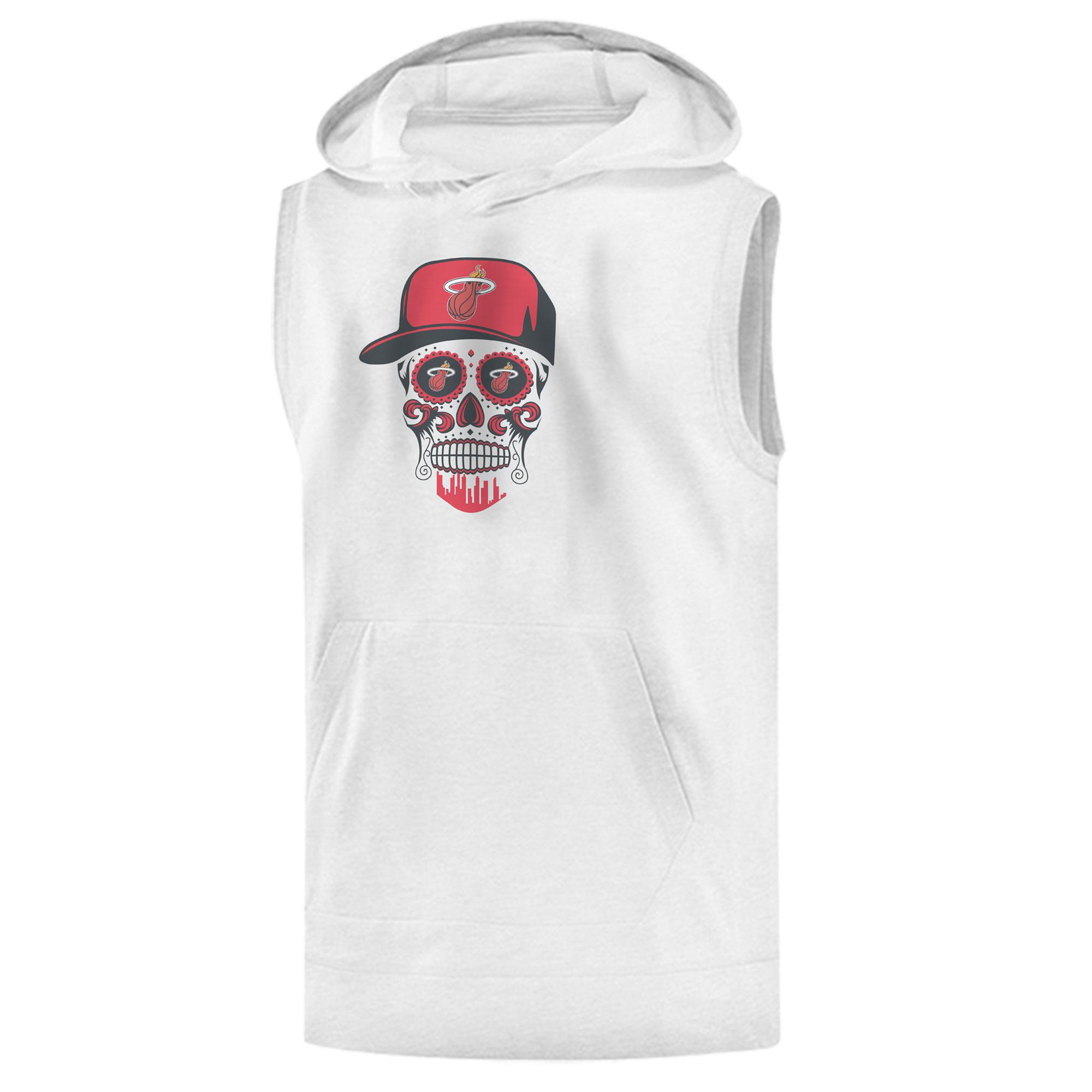 Heat Skull Sleeveless (KLS-WHT-NP-456-NBA-MIAMI-SKULL)