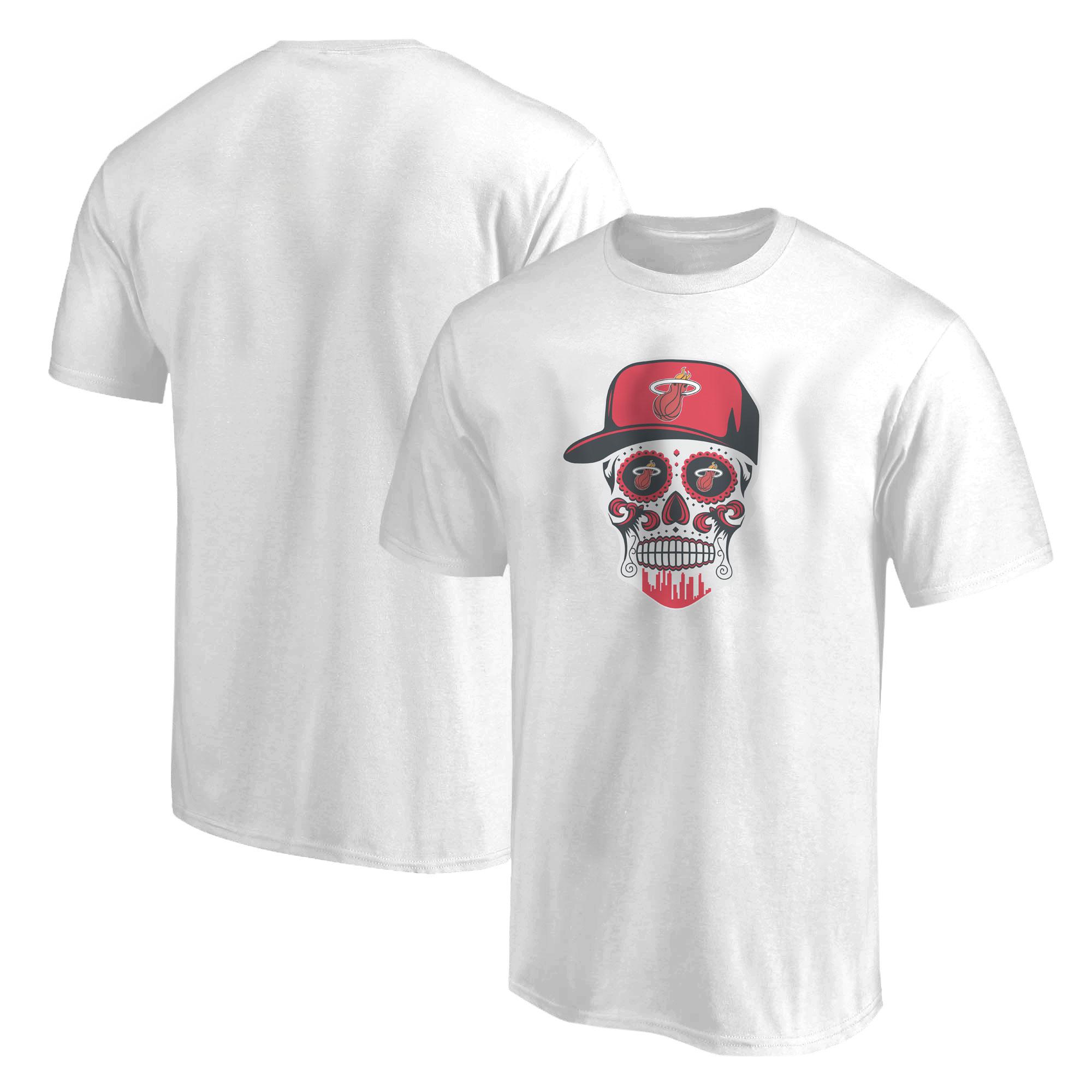 Heat Skull Tshirt  (TSH-WHT-NP-456-NBA-MIAMI-SKULL)