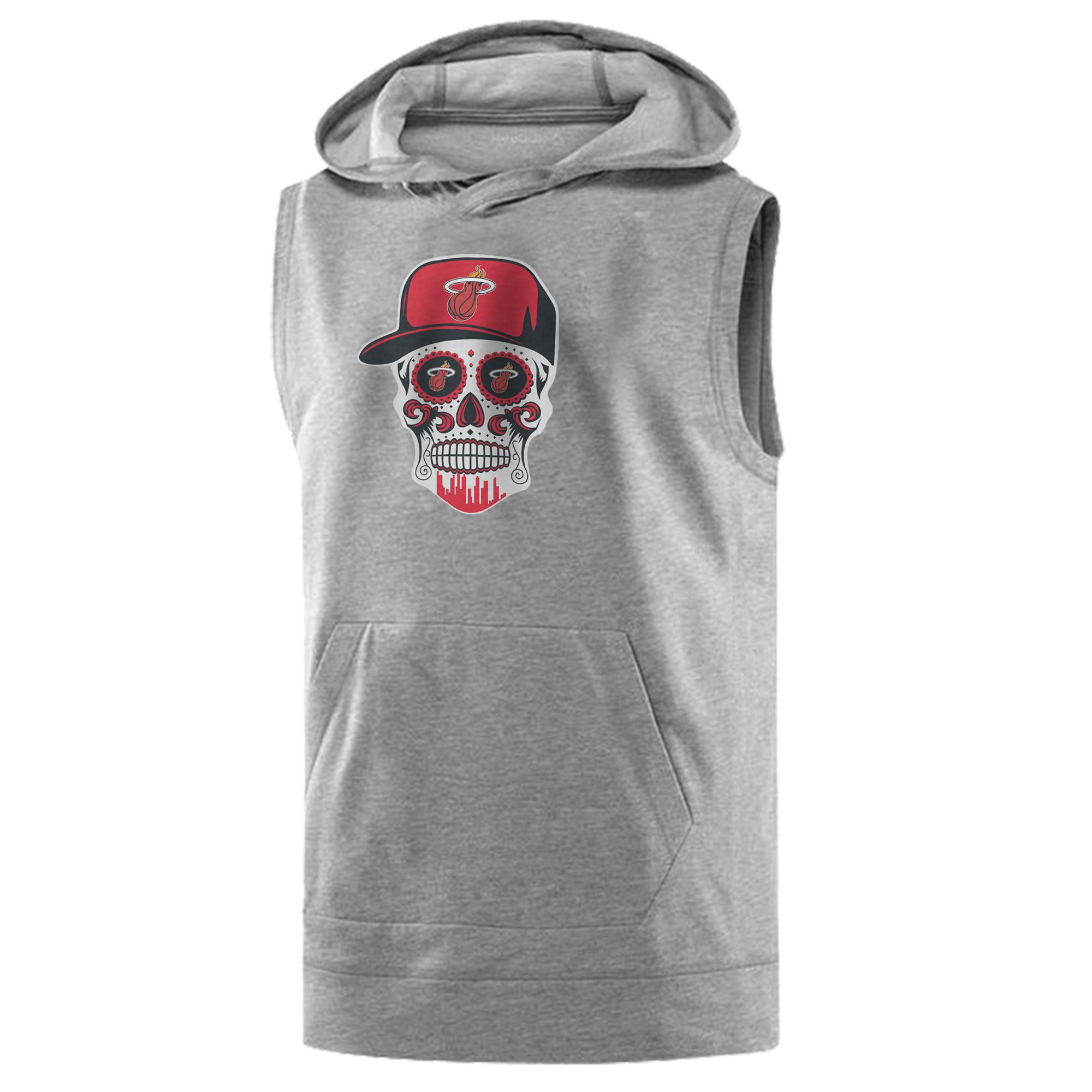 Heat Skull Sleeveless (KLS-GRY-NP-456-NBA-MIAMI-SKULL)
