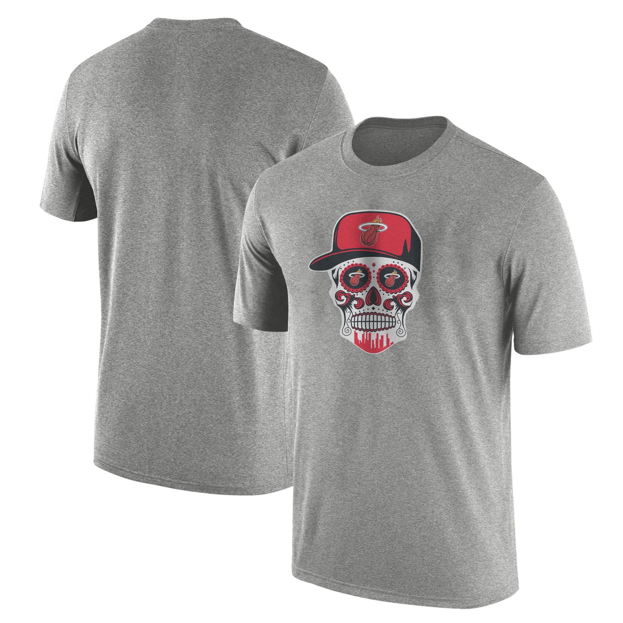 Heat Skull Tshirt  (TSH-GRY-NP-456-NBA-MIAMI-SKULL)