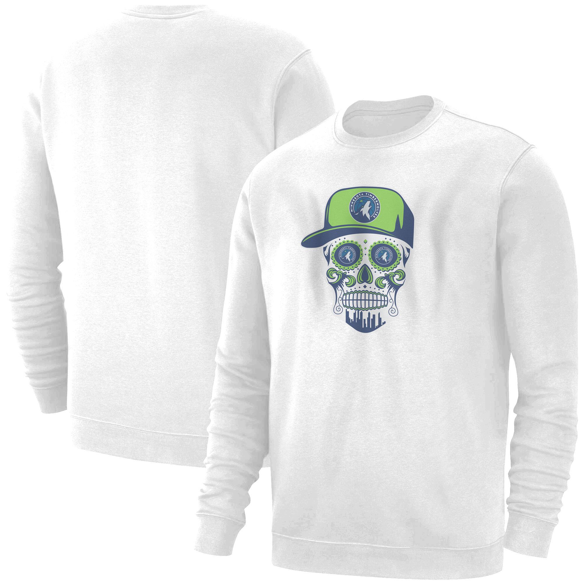 Minnesota Skull Basic (BSC-WHT-NP-457-NBA-MIN-SKULL)