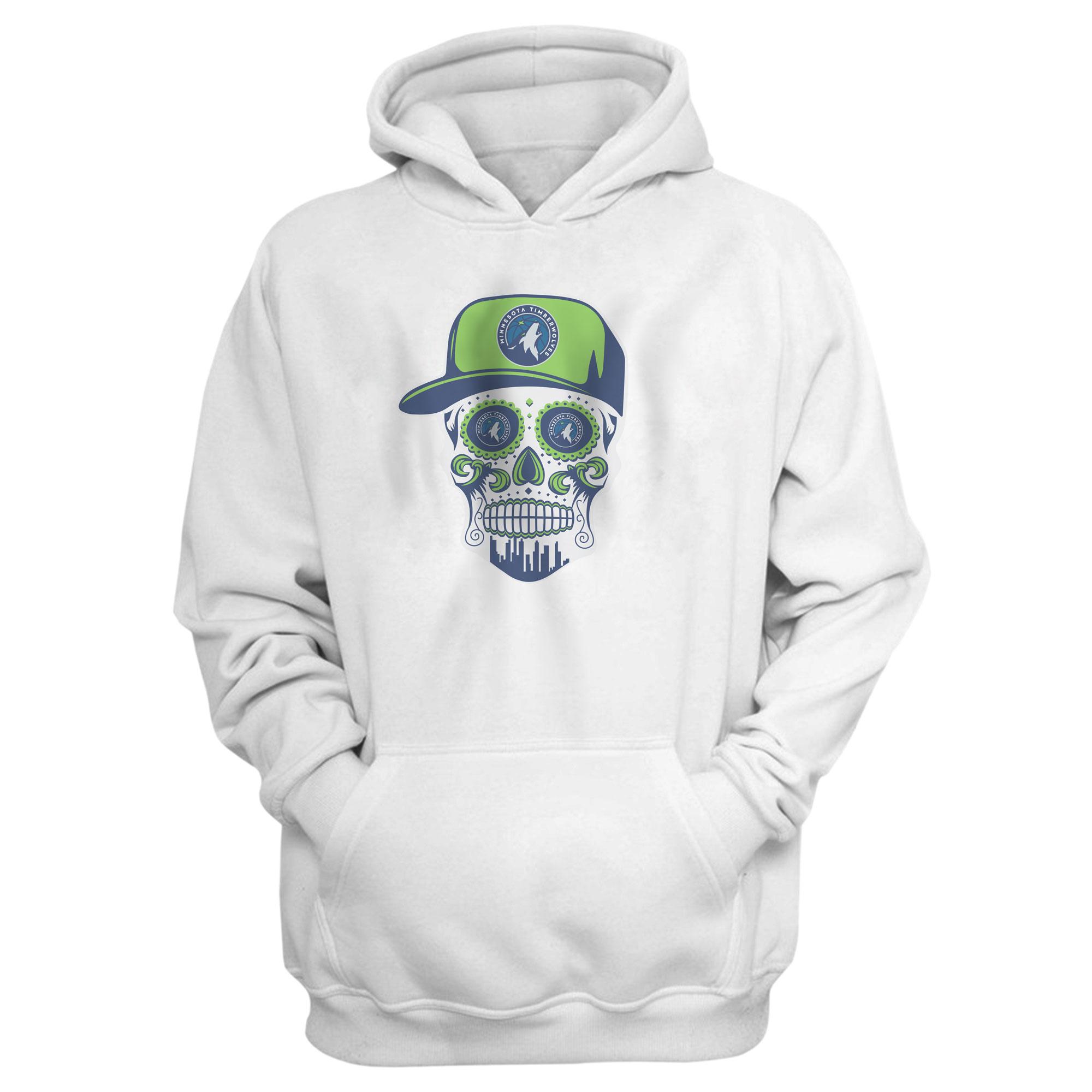 Minnesota Skull Hoodie (HD-BLC-NP-457-NBA-MIN-SKULL)