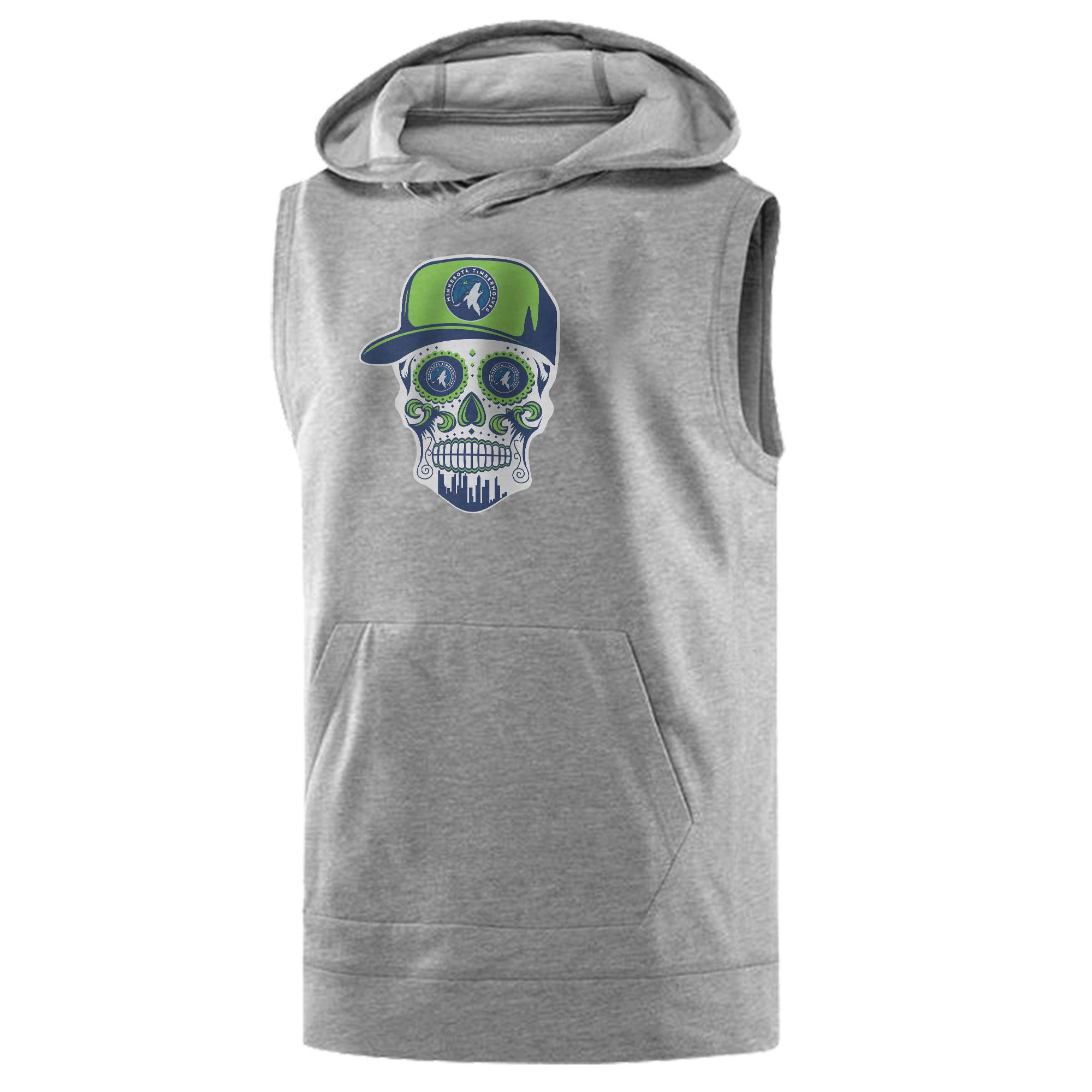 Minnesota Skull Sleeveless (KLS-WHT-NP-457-NBA-MİN-SKULL)