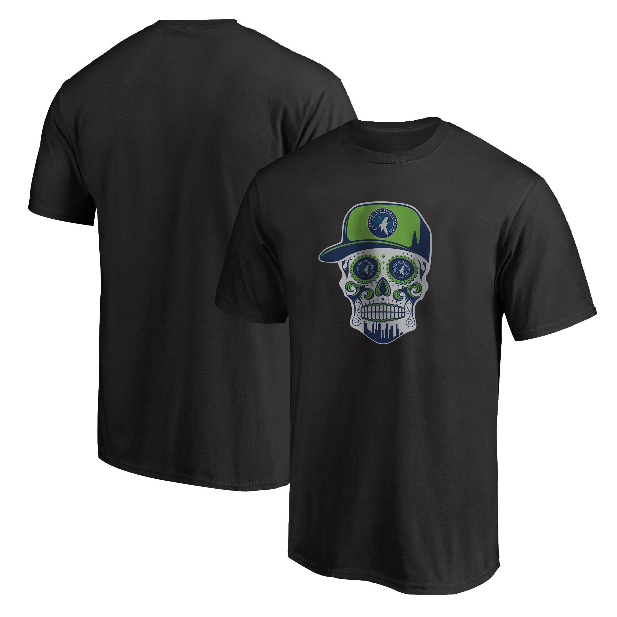 Minnesota Skull Tshirt (TSH-BLC-NP-457-MİN-SKULL)
