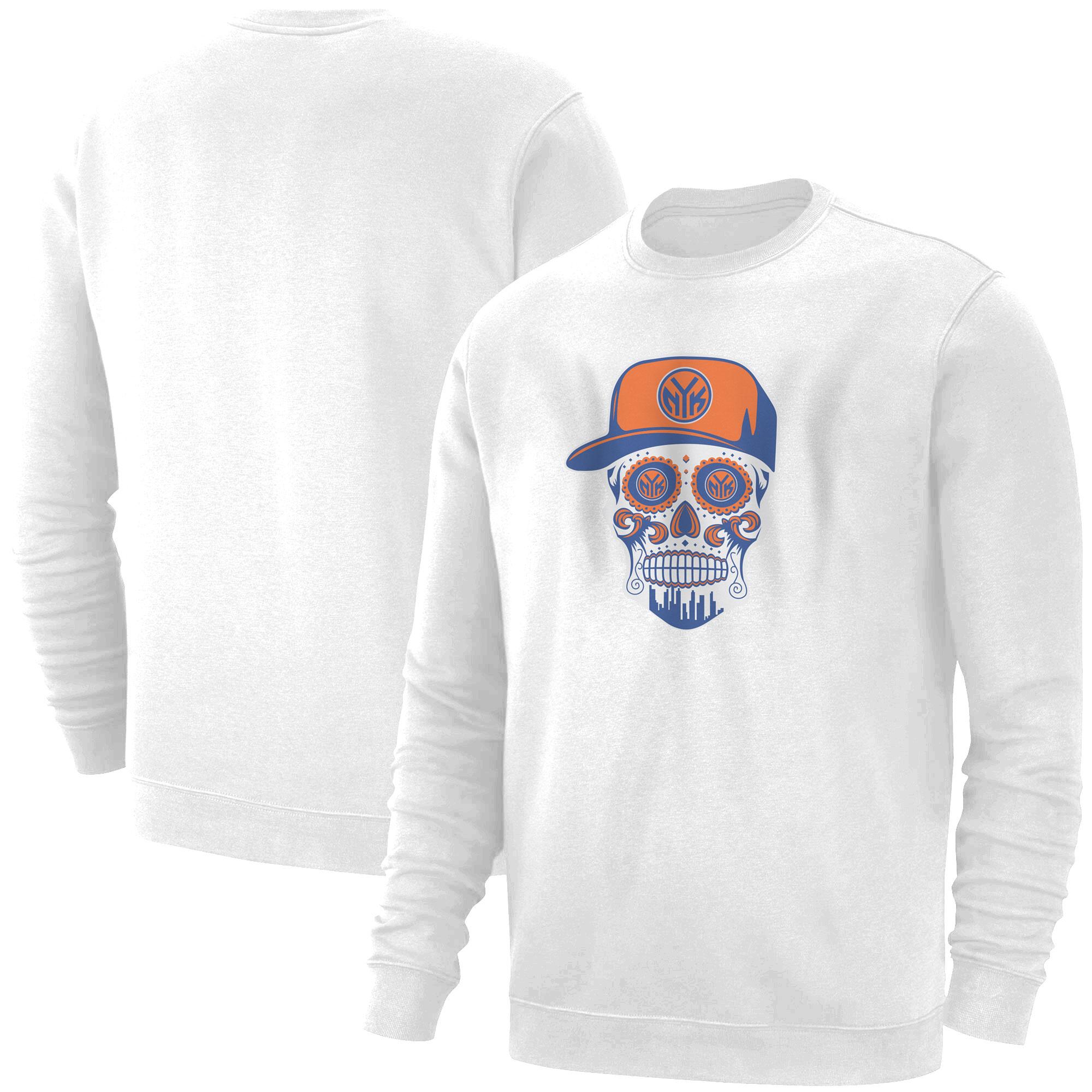 Knicks Skull  Basic (BSC-WHT-NP-458-NBA-NYK-SKULL)