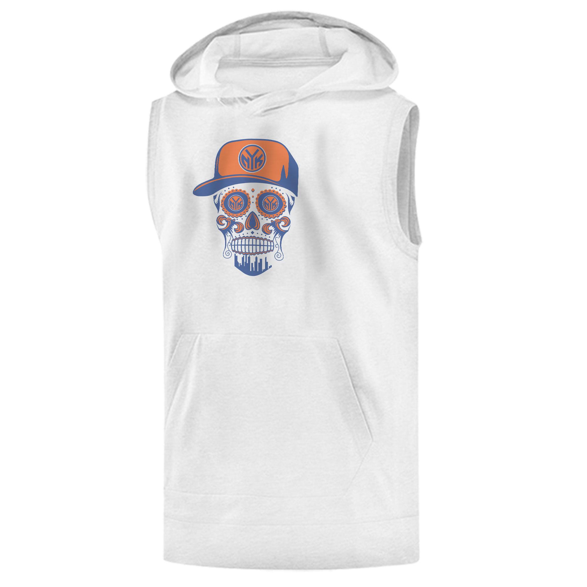 Knicks Skull Sleeveless (KLS-WHT-NP-458-NBA-NYK-SKULL)