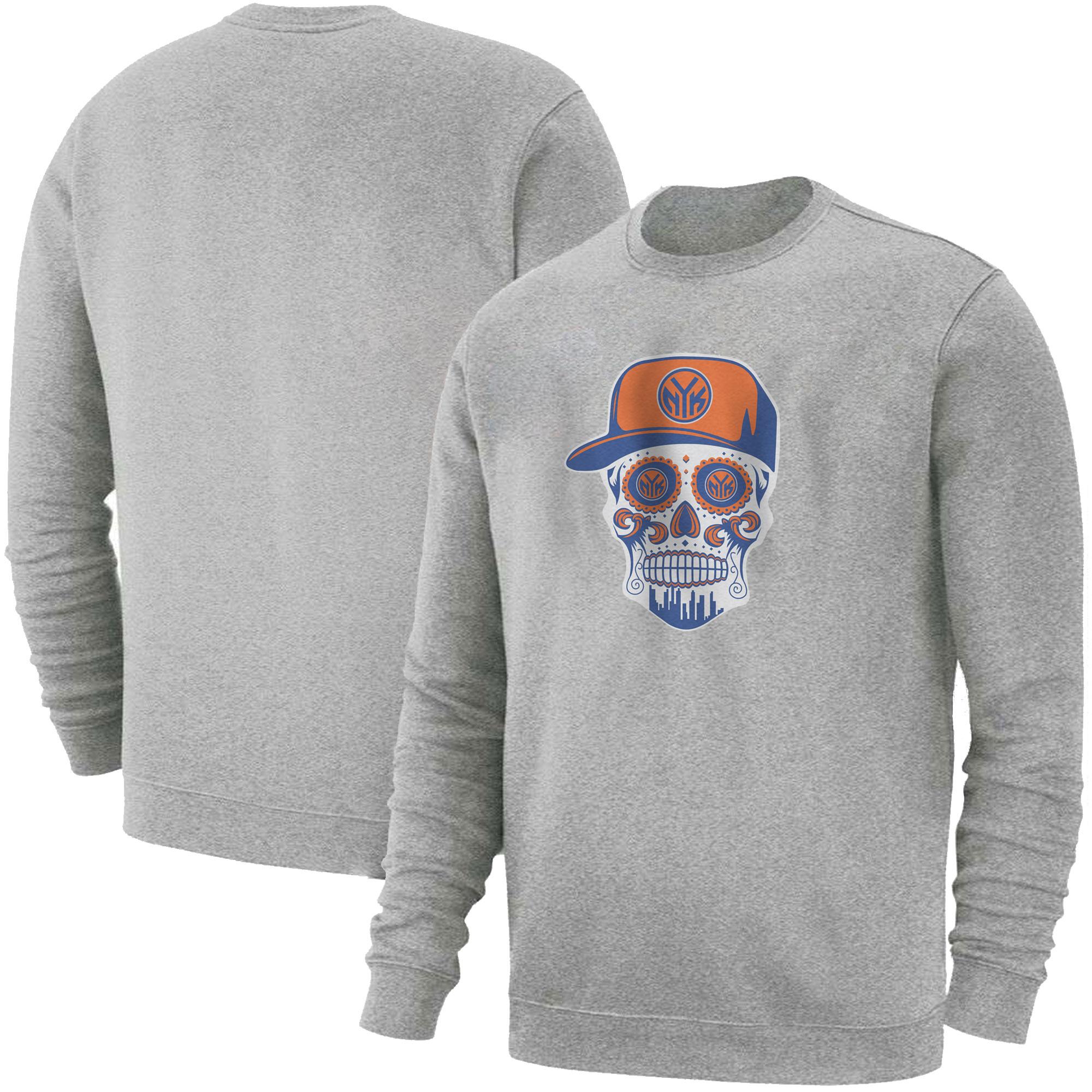 Knicks Skull  Basic (BSC-GRY-NP-458-NBA-NYK-SKULL)