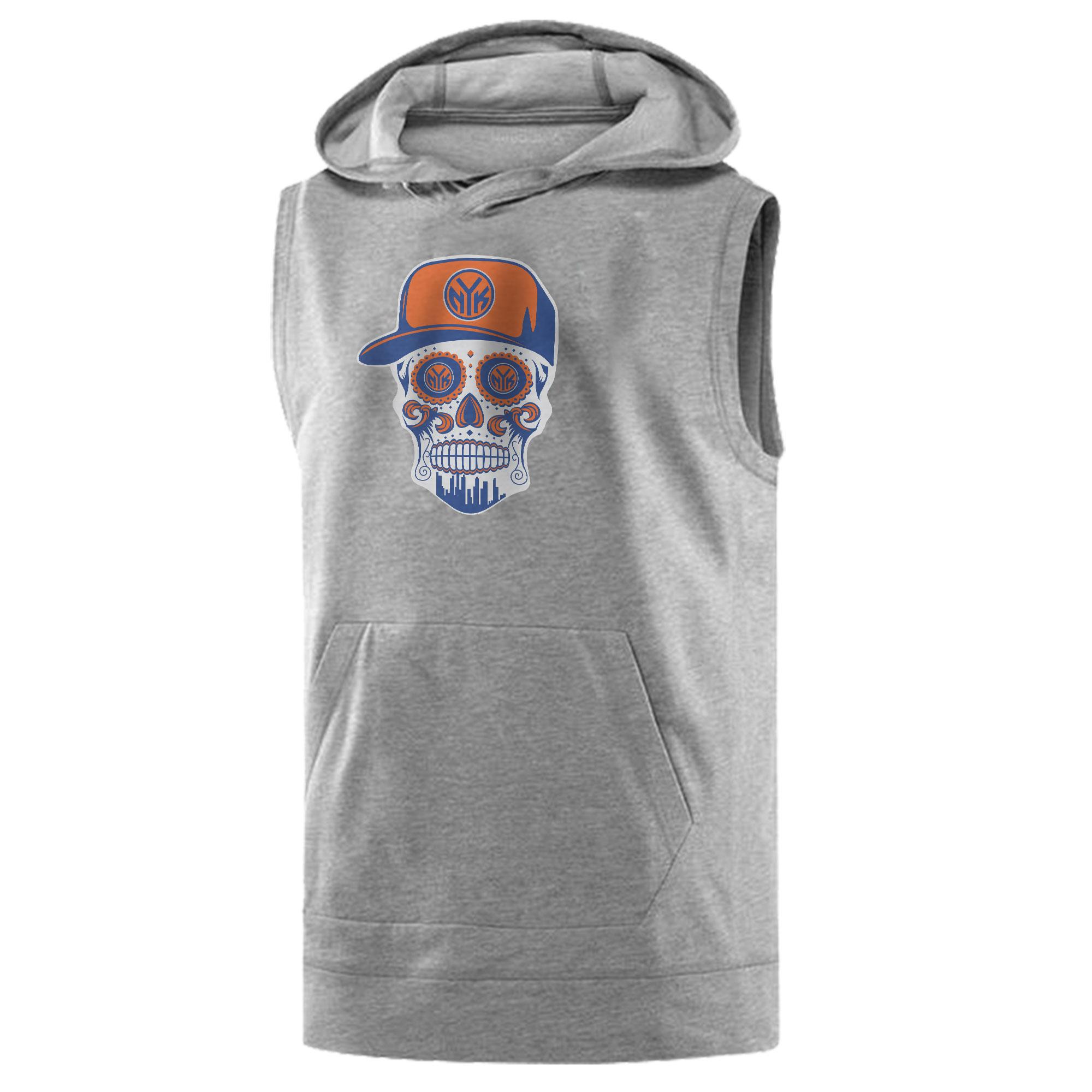 Knicks Skull Sleeveless (KLS-GRY-NP-458-NBA-NYK-SKULL)