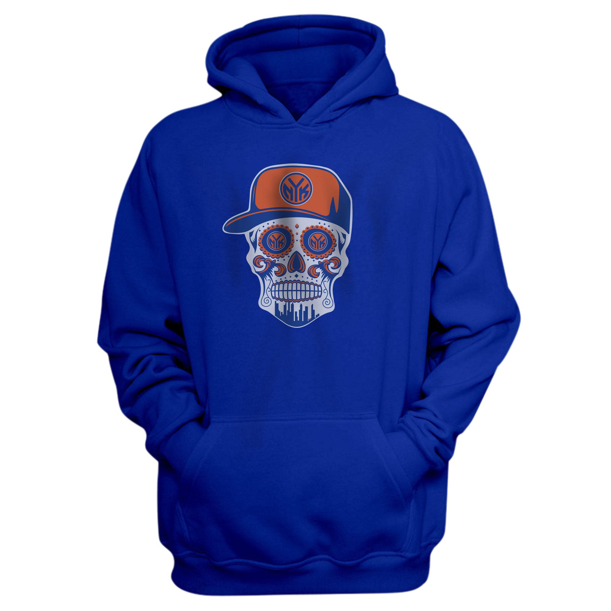 Knicks Skull Hoodie (HD-BLU-NP-NBA-458-NYK-SKULL)