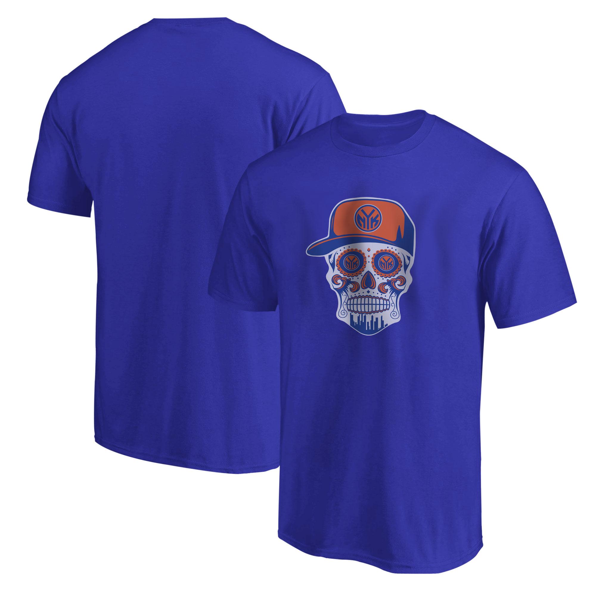Knicks Skull Tshirt (TSH-BLU-NP-458-NBA-NYK-SKULL)