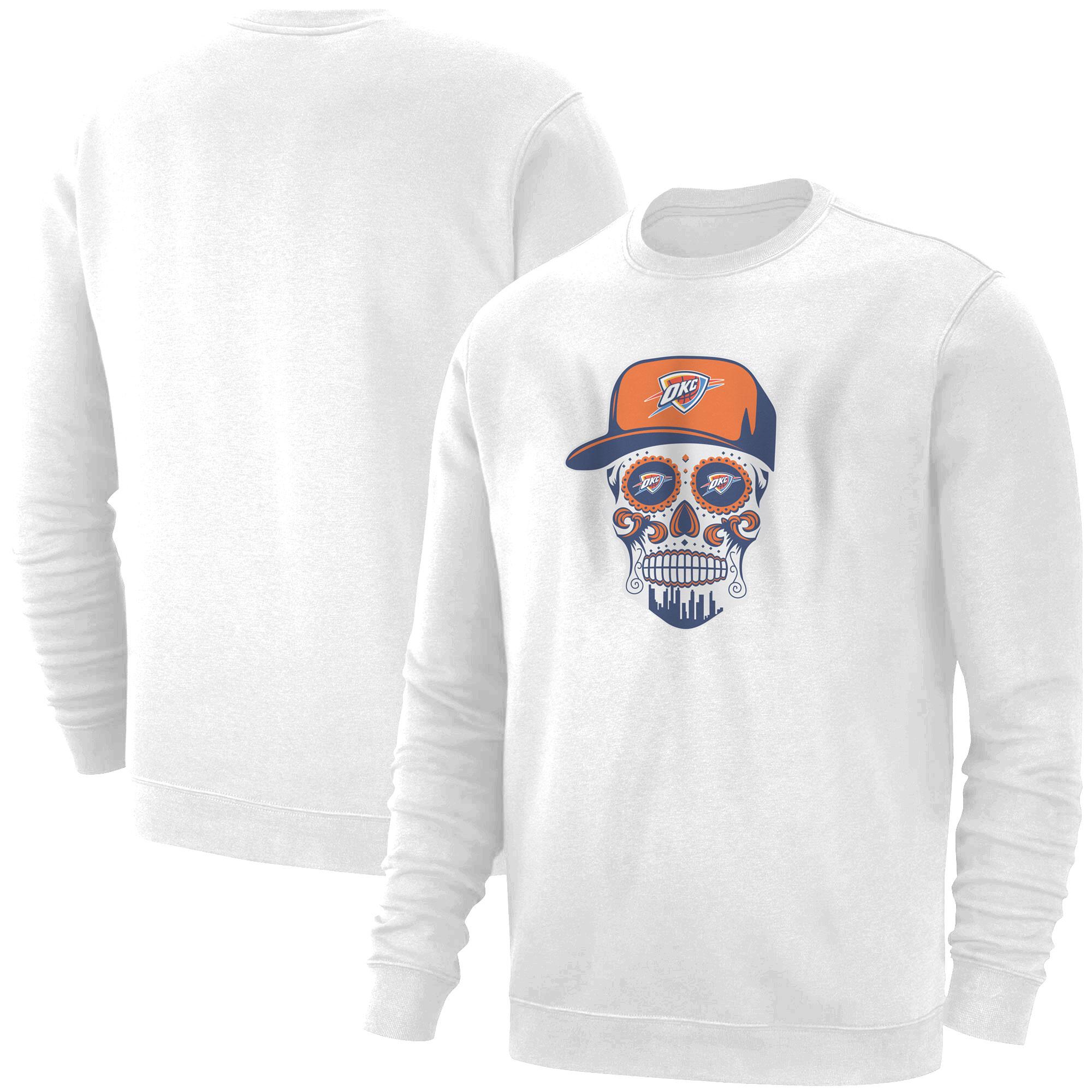 Thunder Skull  Basic (BSC-WHT-NP-459-NBA-OKC-SKULL)