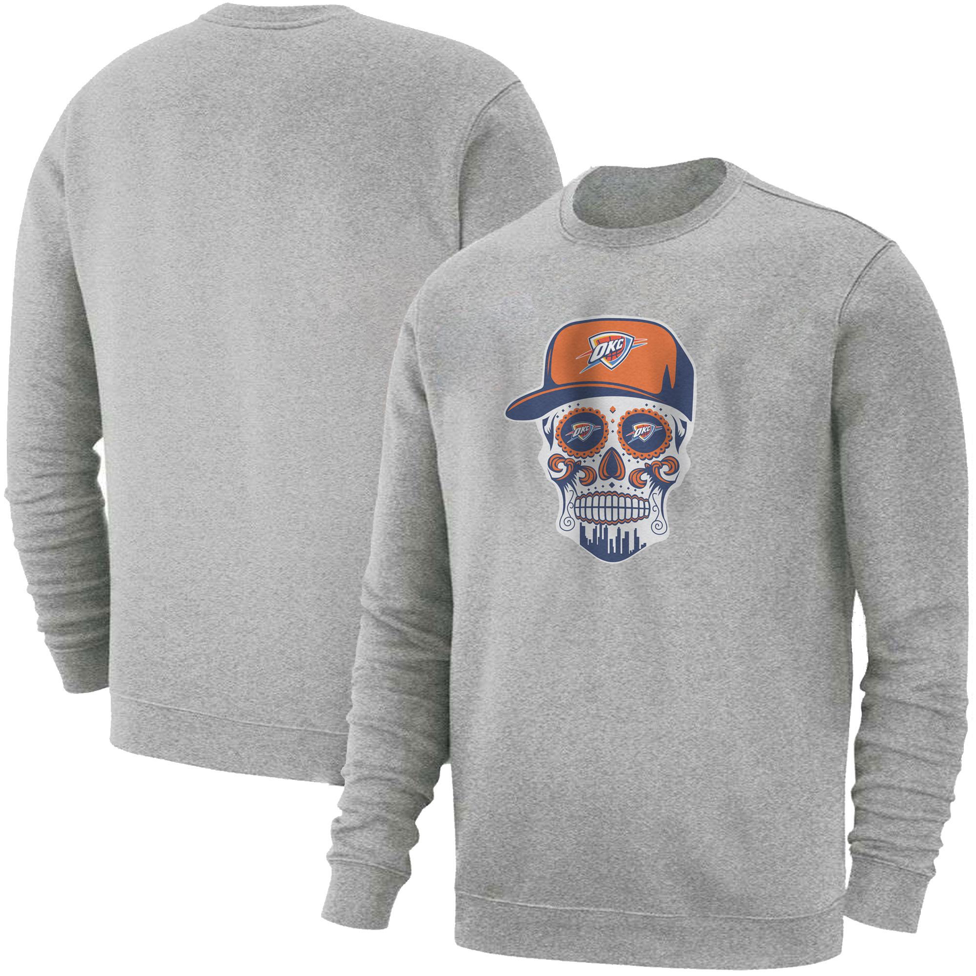 Thunder Skull  Basic (BSC-GRY-NP-459-NBA-OKC-SKULL)